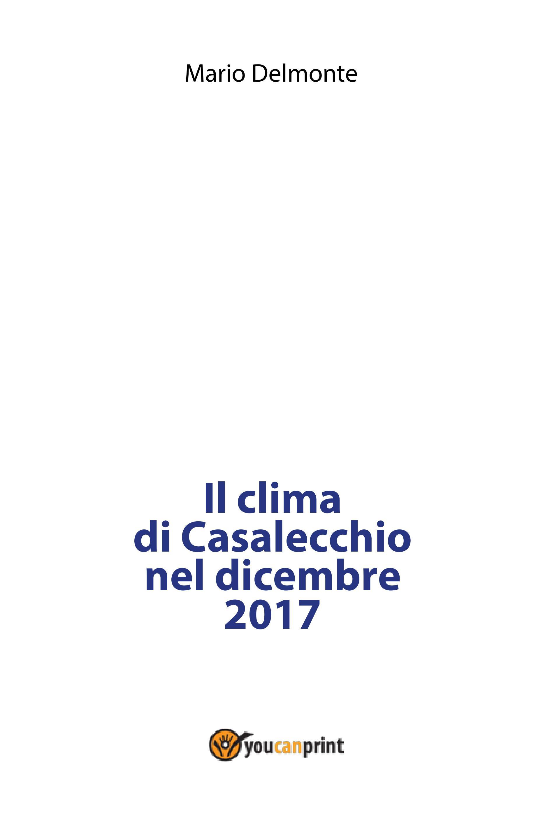 Il clima di Casalecchio nel dicembre 2017