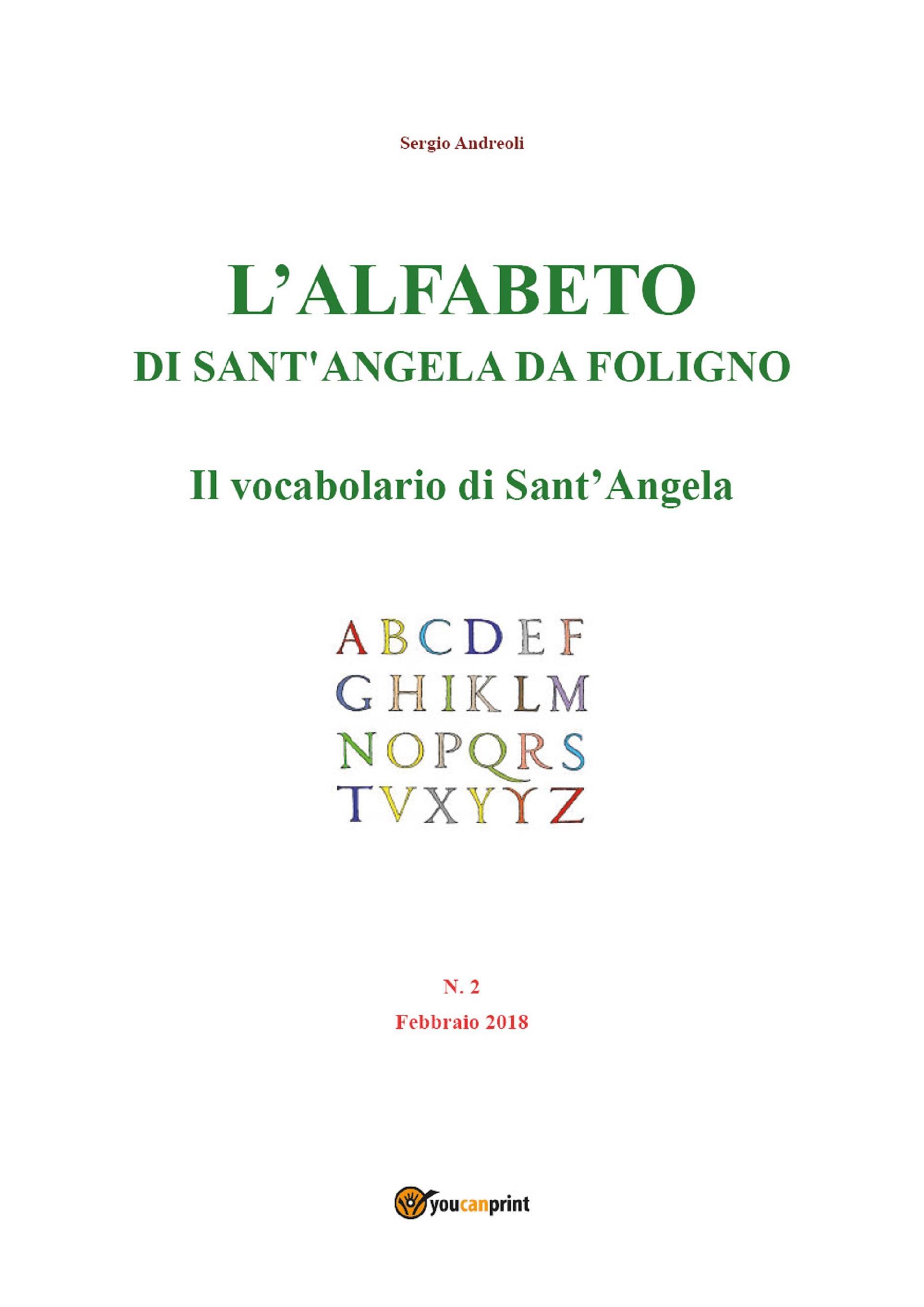 L'alfabeto di Sant'Angela da Foligno - Num. 2 - Il vocabolario di Sant'Angela