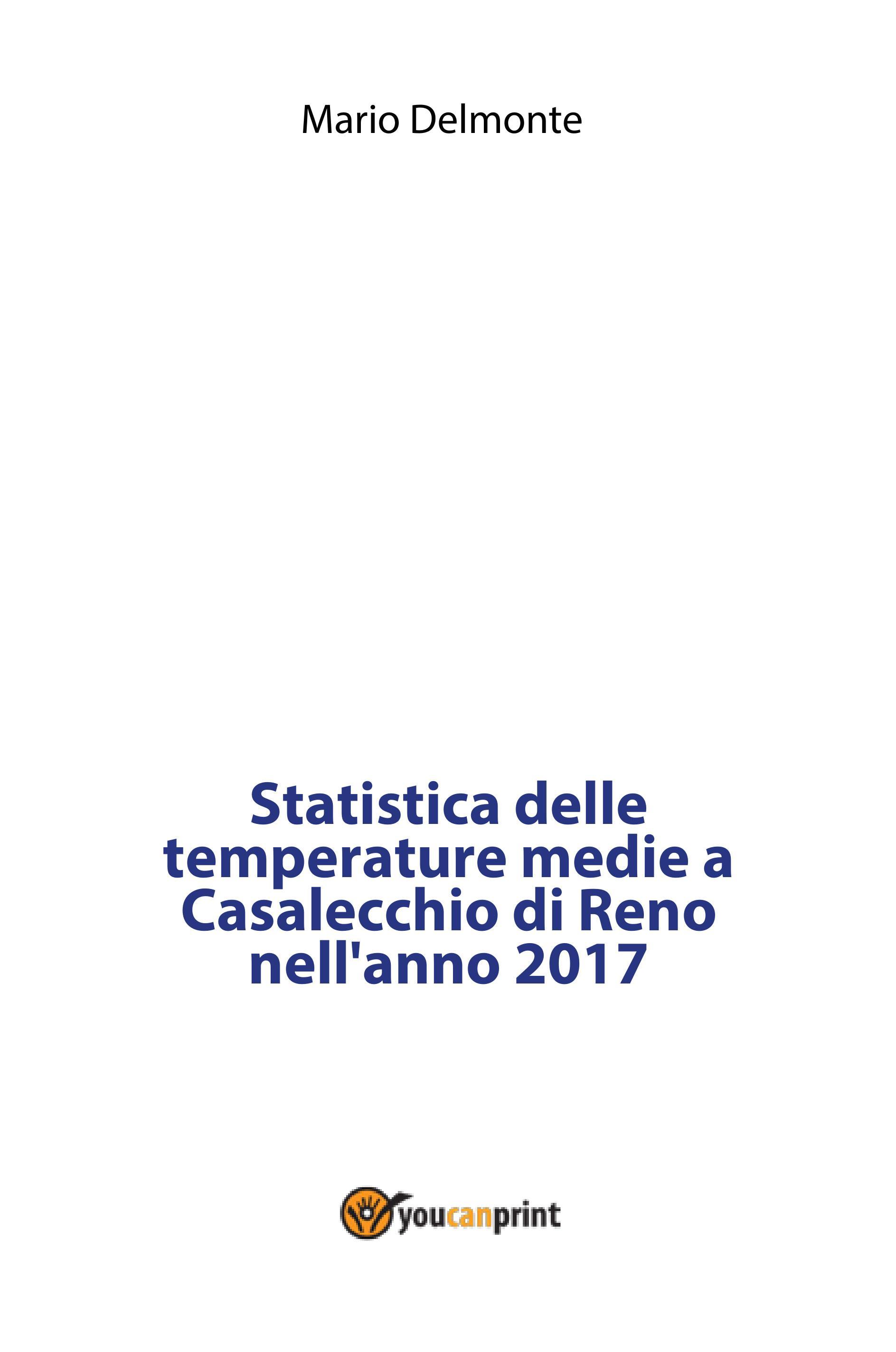 Statistica delle temperature medie a Casalecchio di Reno nell'anno 2017