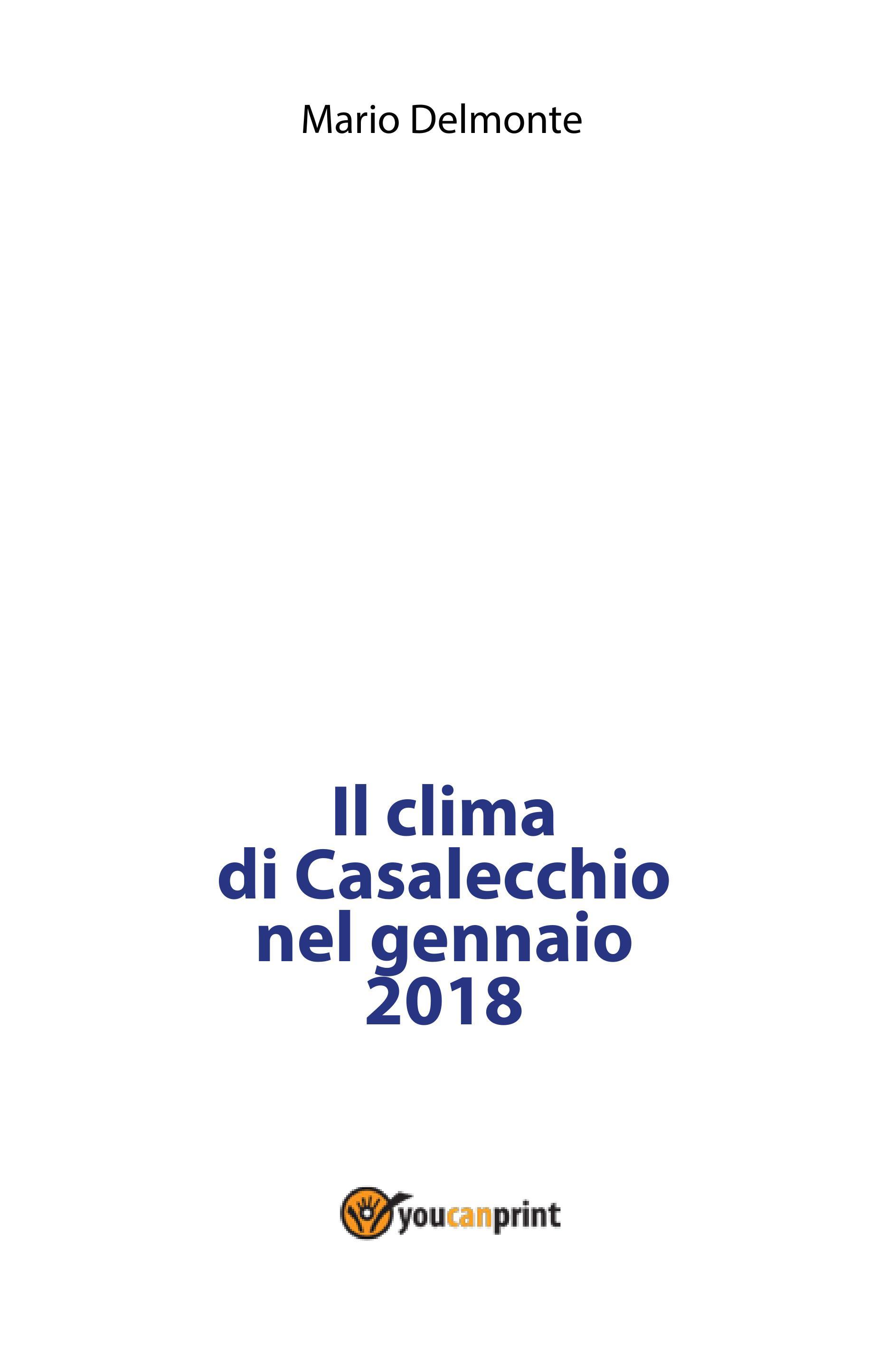Il clima di Casalecchio nel gennaio 2018