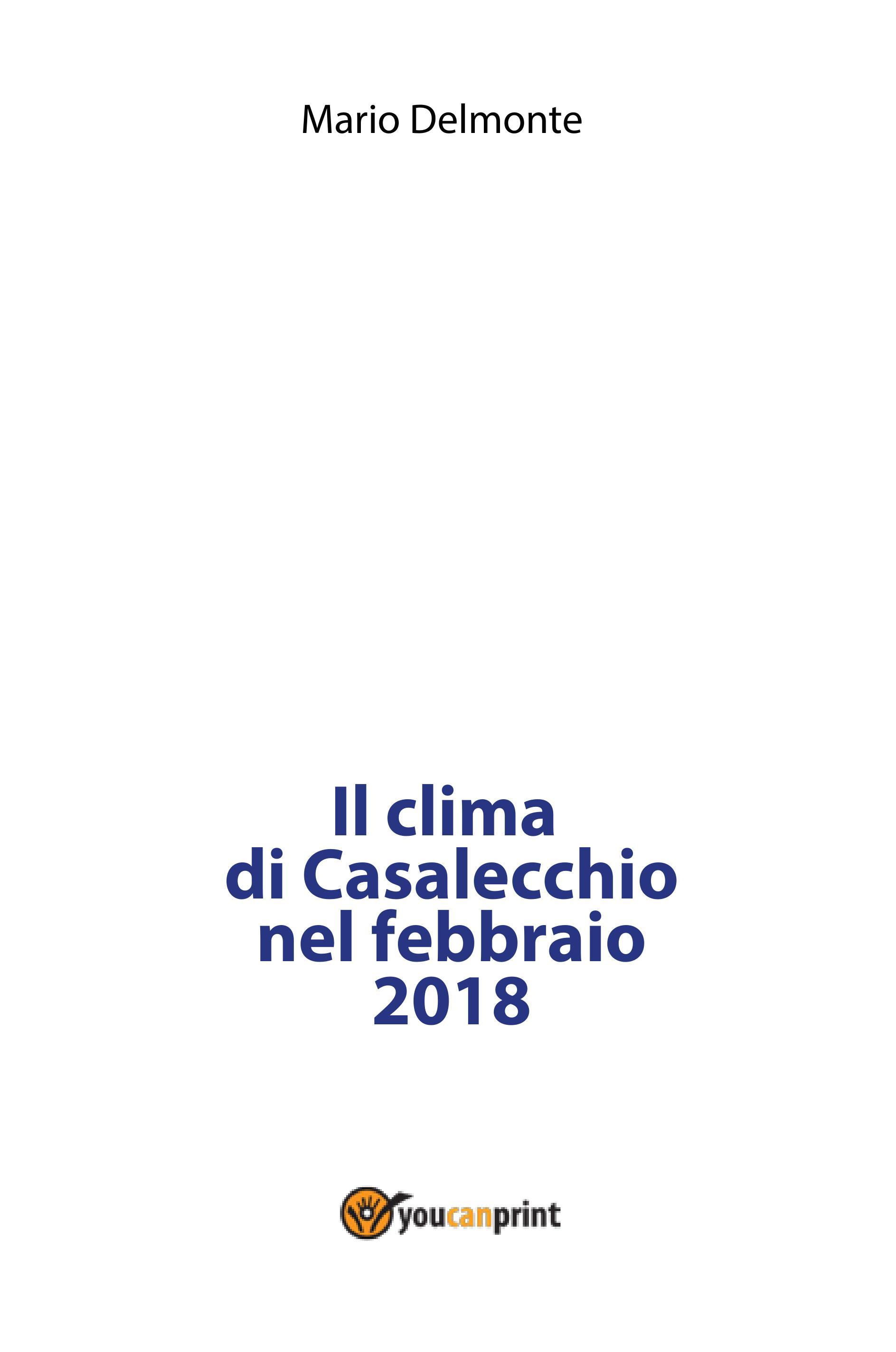 Il clima di Casalecchio nel febbraio 2018
