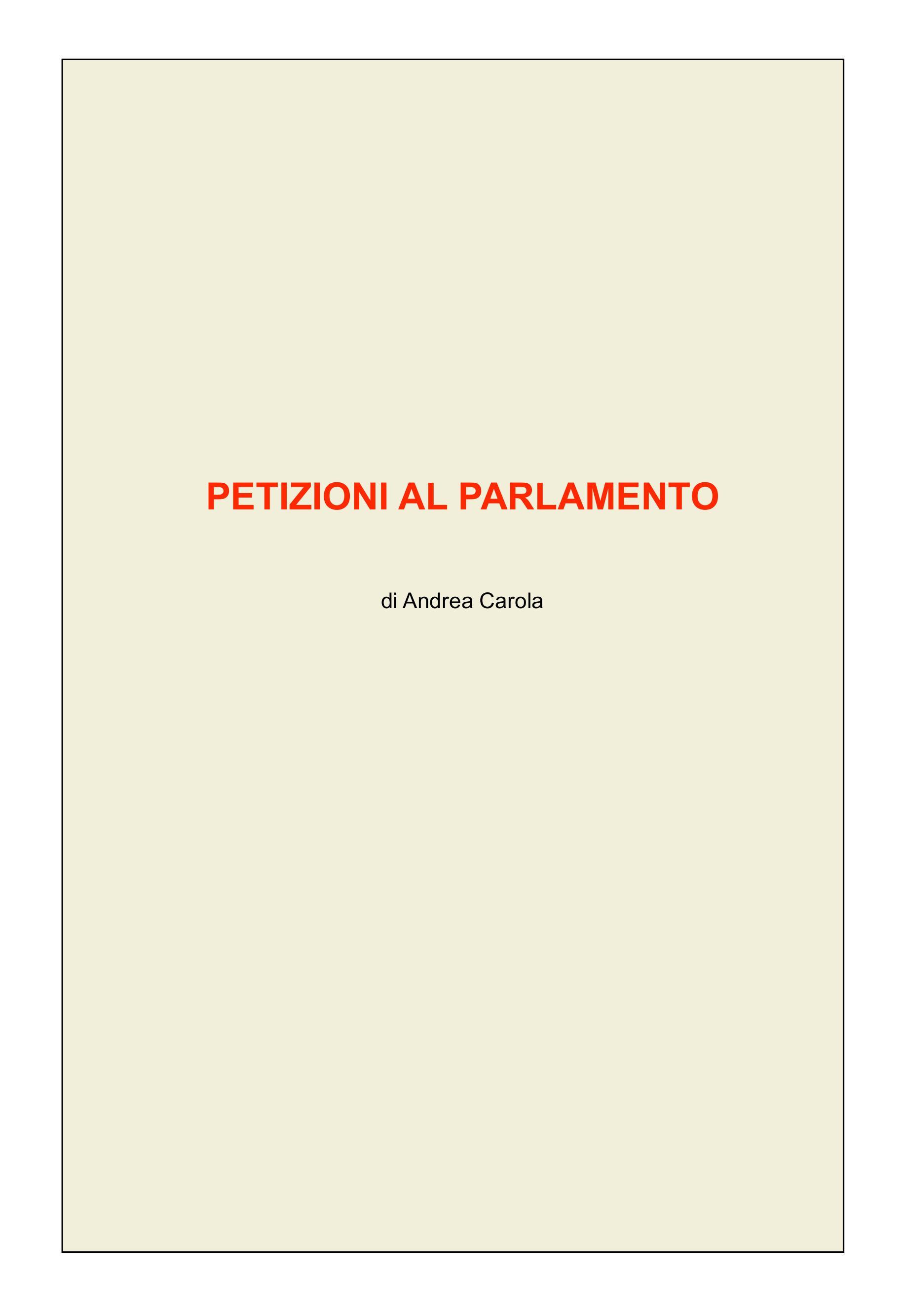 Petizioni al Parlamento