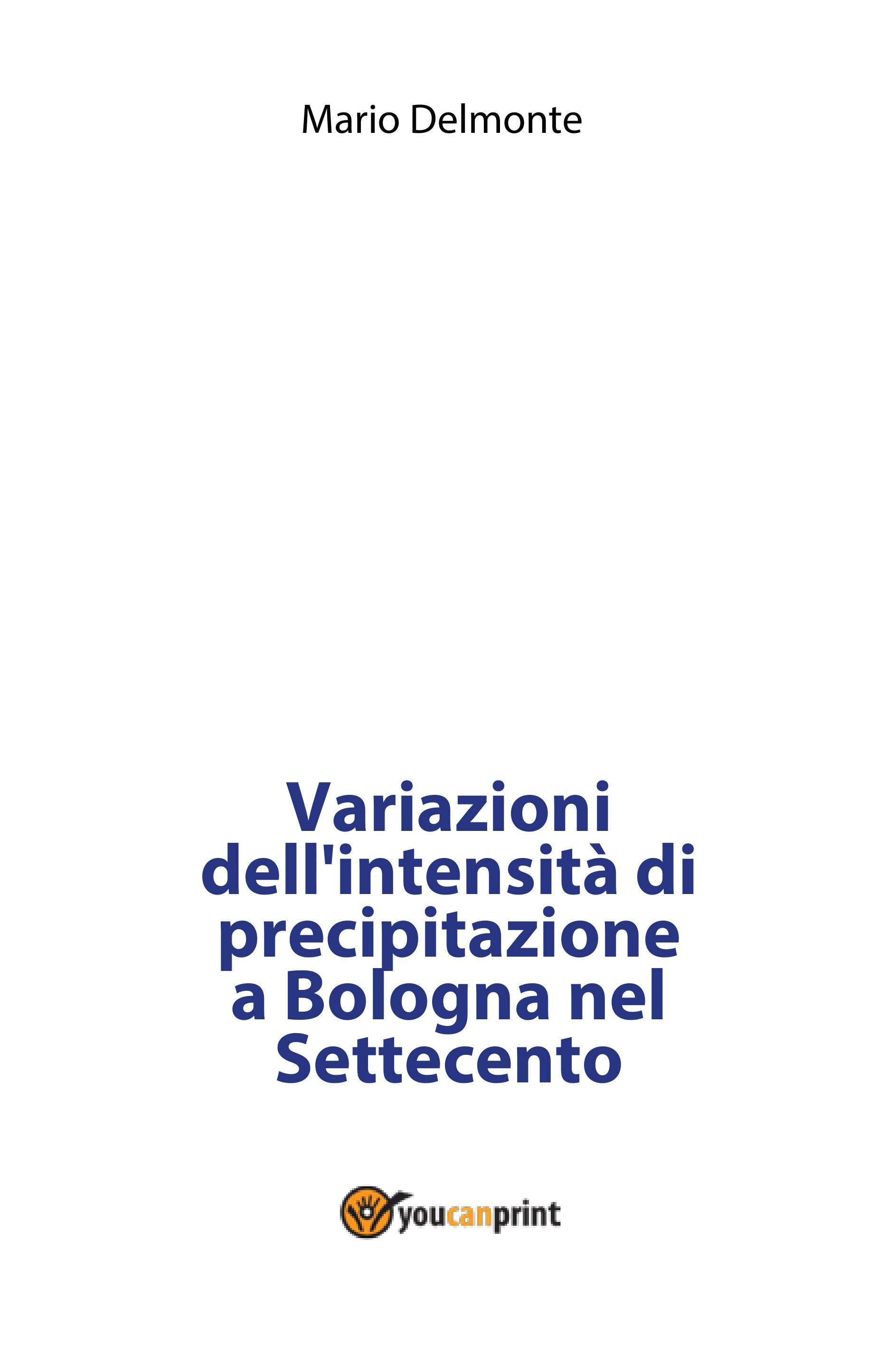Variazioni dell'intensità di precipitazione a Bologna nel Settecento