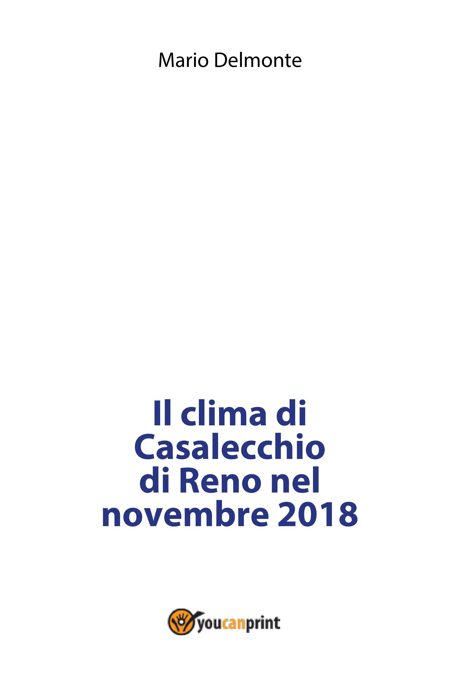 Il clima di Casalecchio di Reno nel novembre 2018