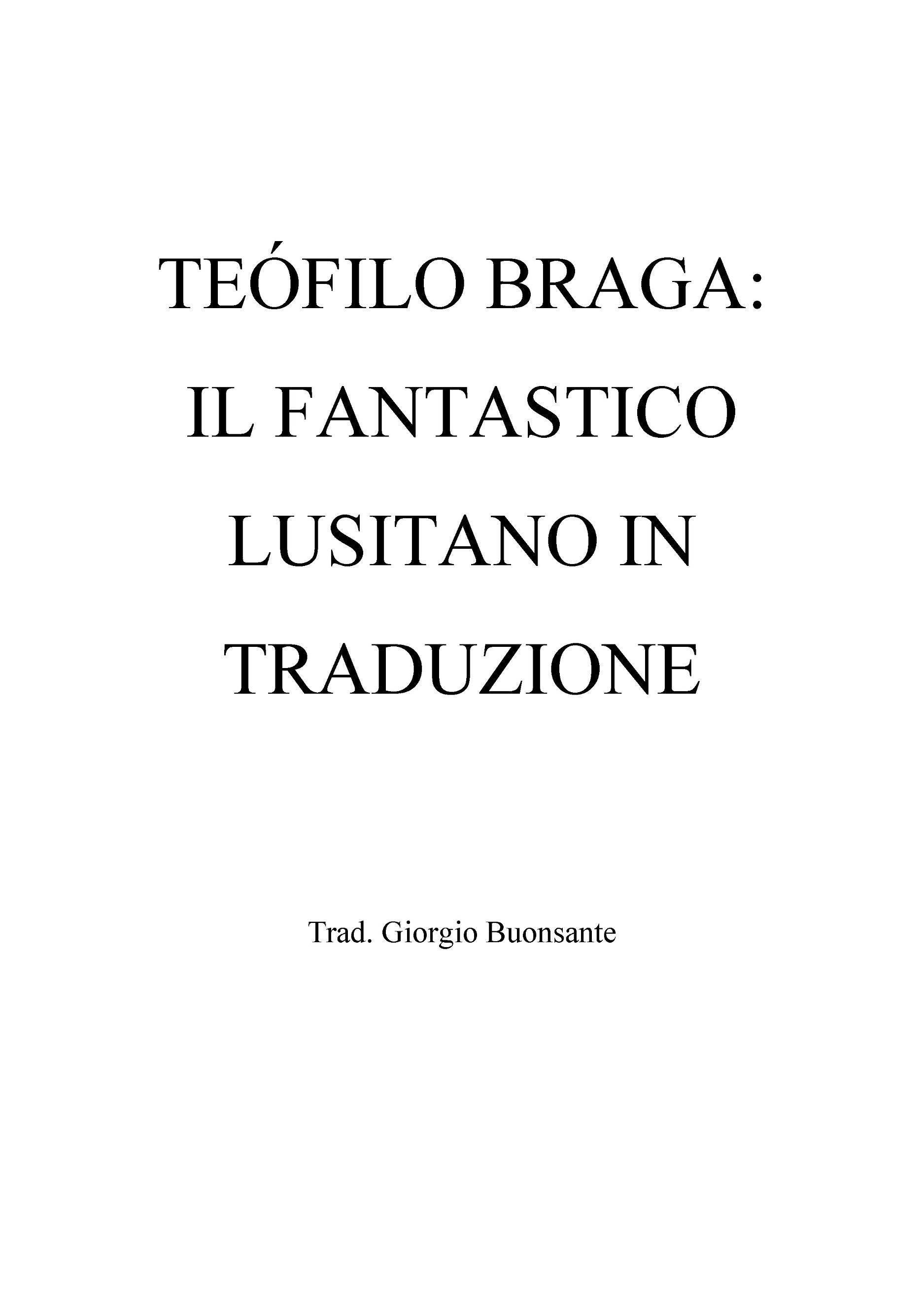 Teófilo Braga: il fantastico lusitano in traduzione
