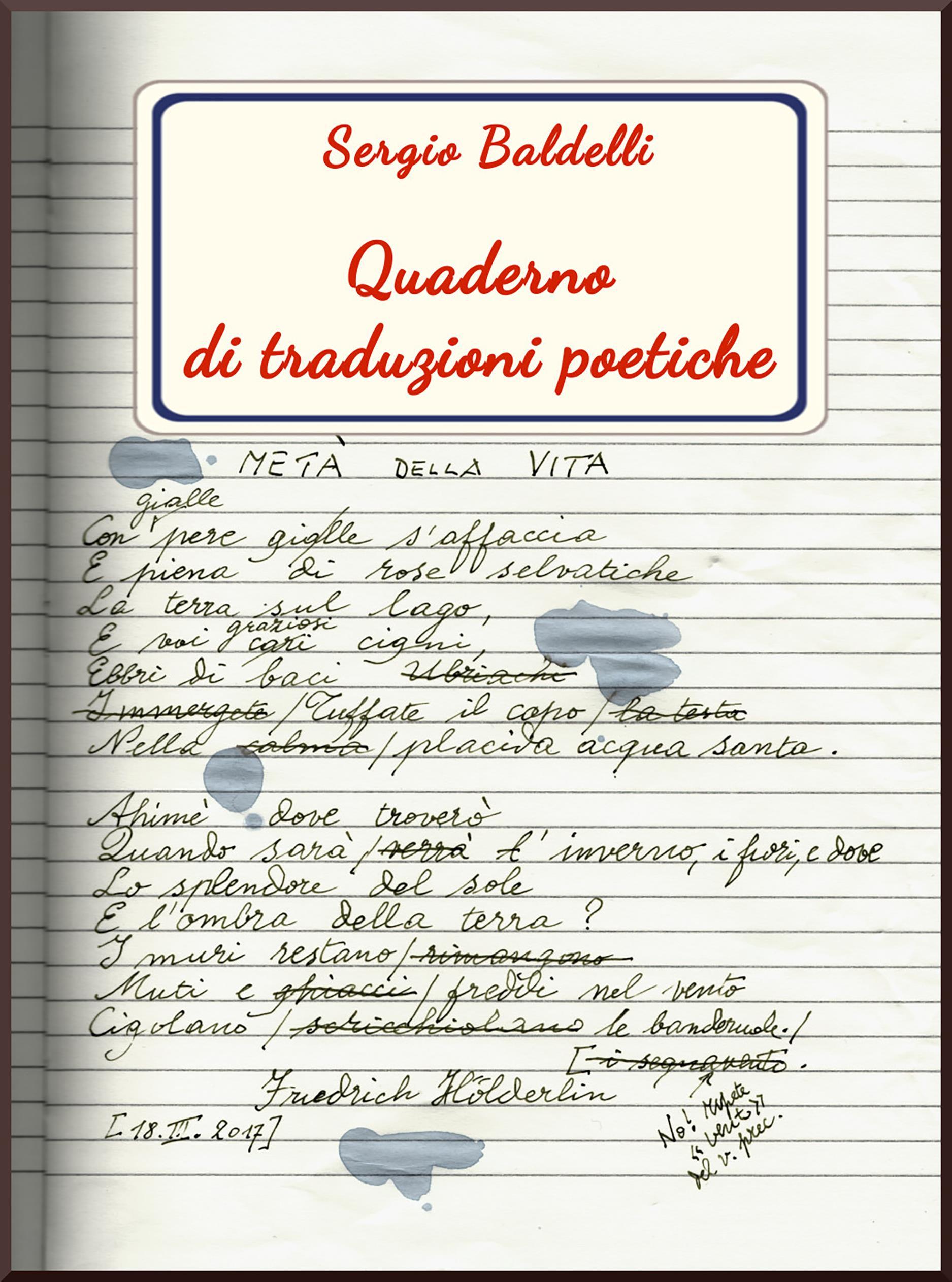 Quaderno di traduzioni poetiche