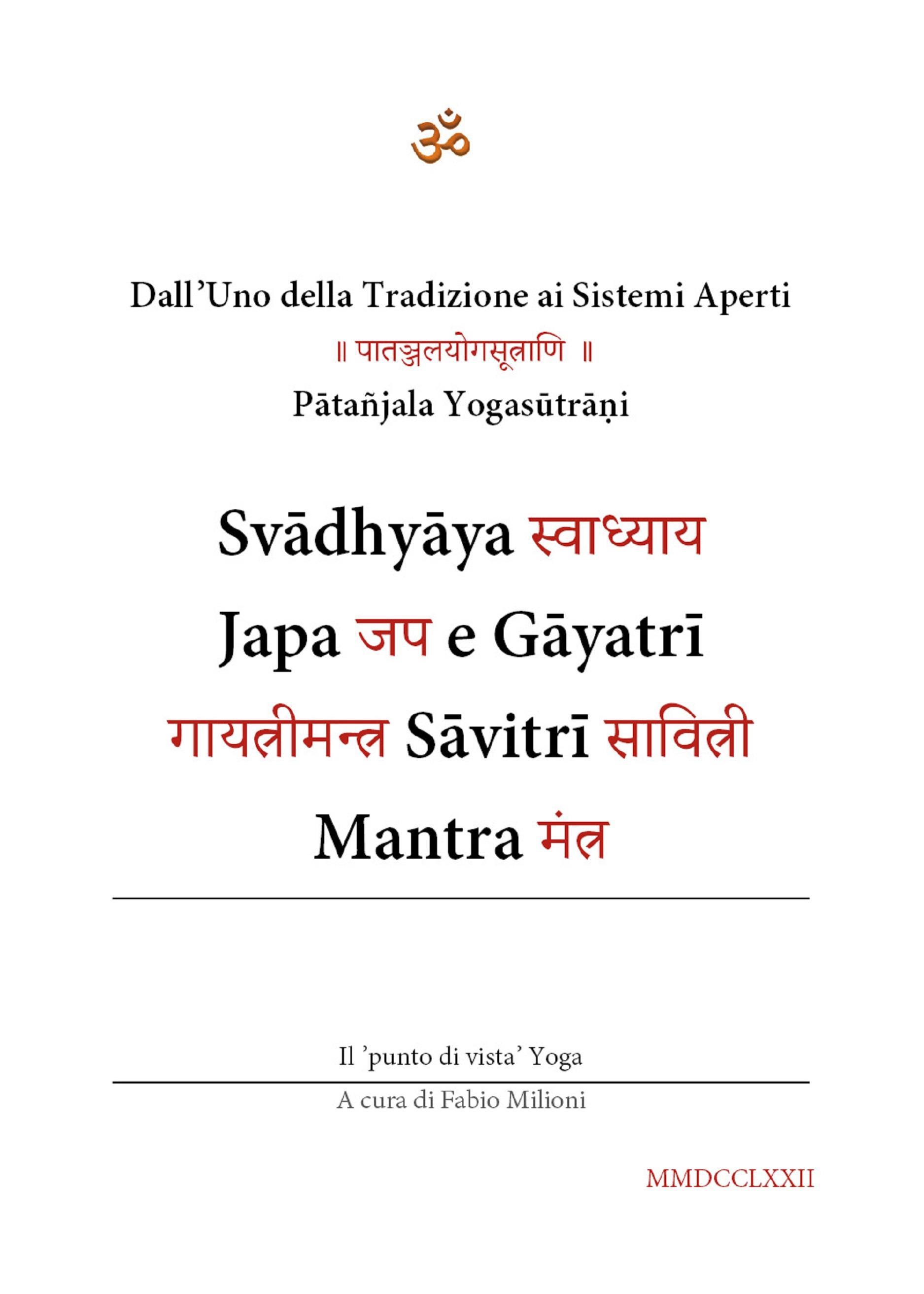 Svadhyaya Japa e Gayatri Savitri Mantra