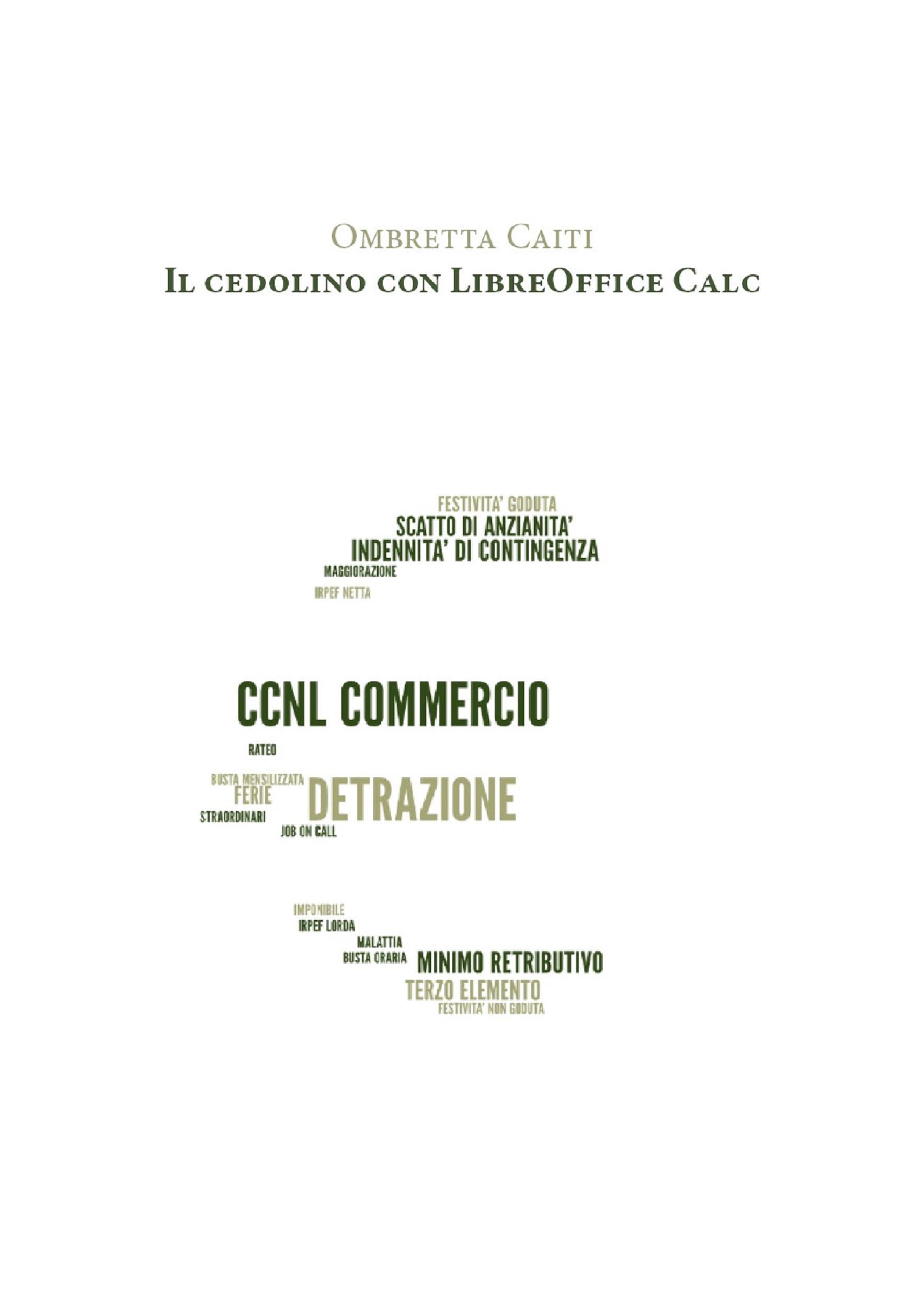 Il cedolino con LibreOffice Calc