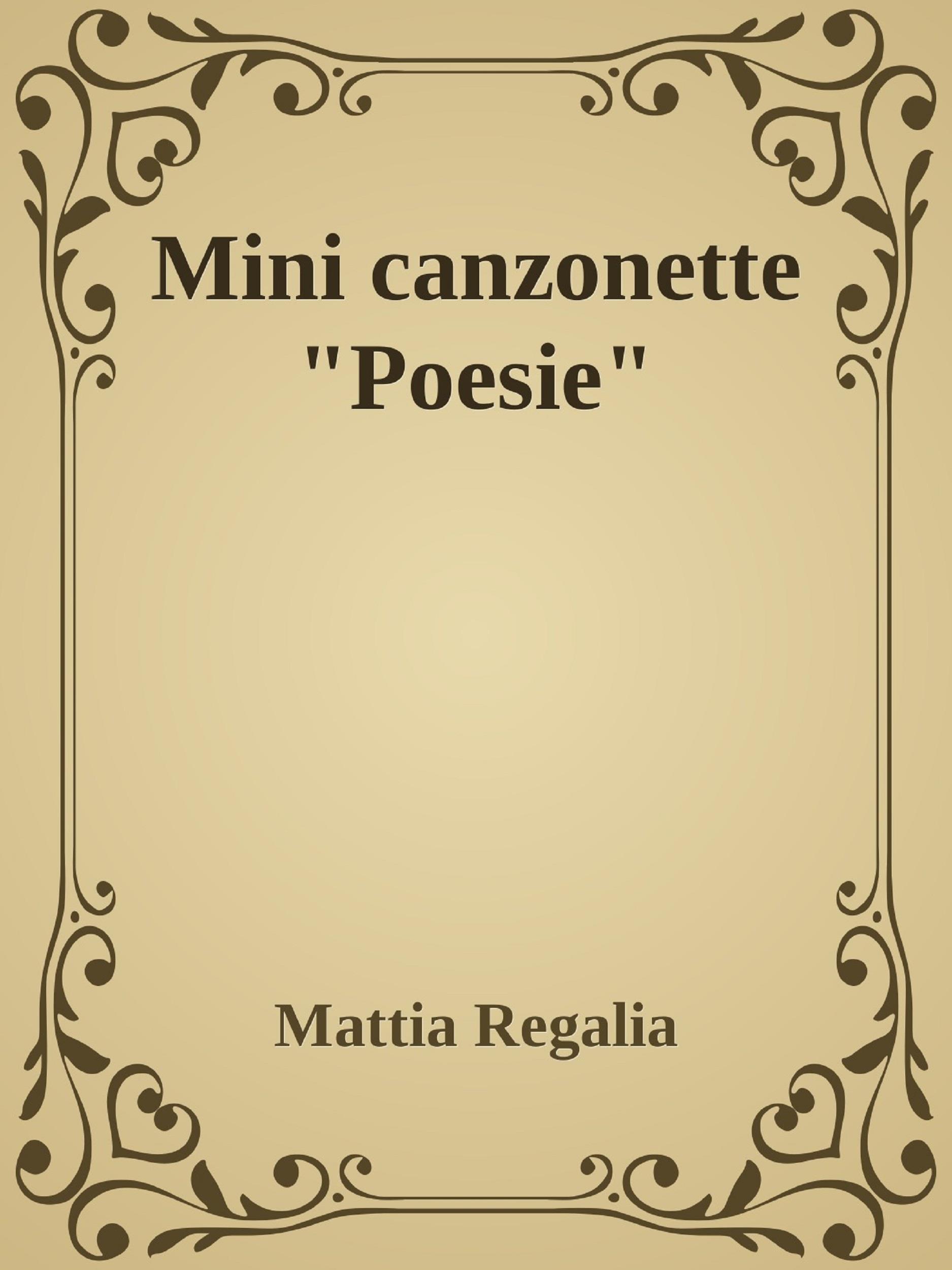 "Mini canzonette ""Poesie"""