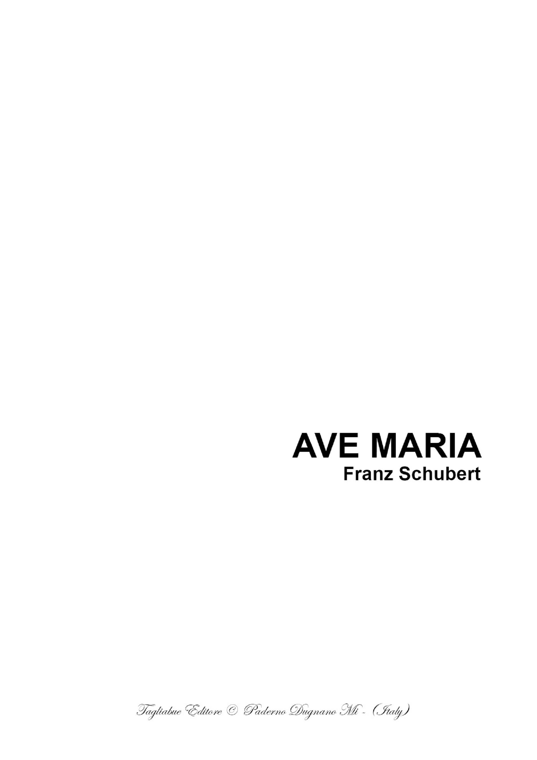 AVE MARIA by SCHUBERT - Arr. for Solo, Choir ATB and Piano/Organ