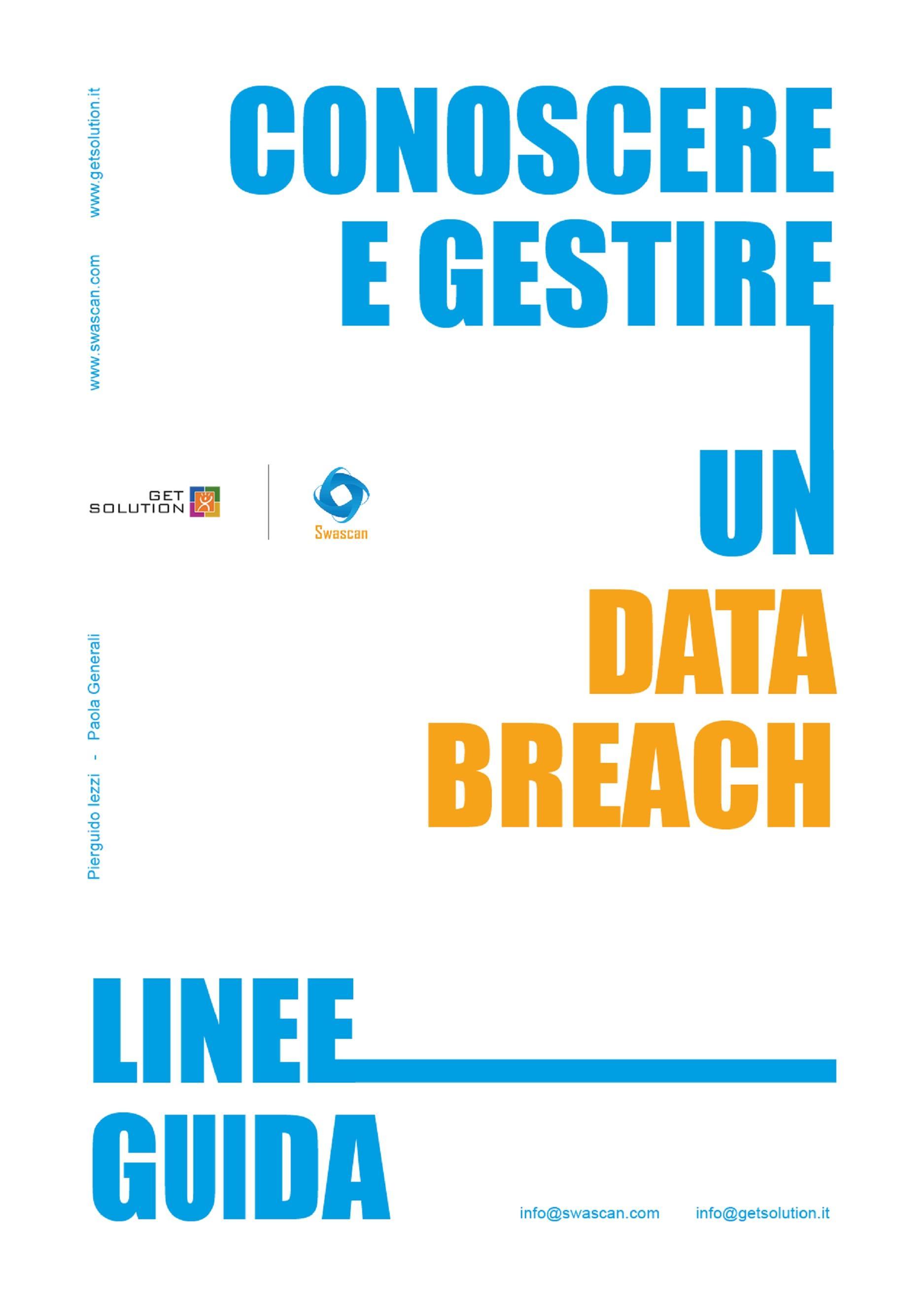Conoscere e gestire un Data Breach - Linee Guida