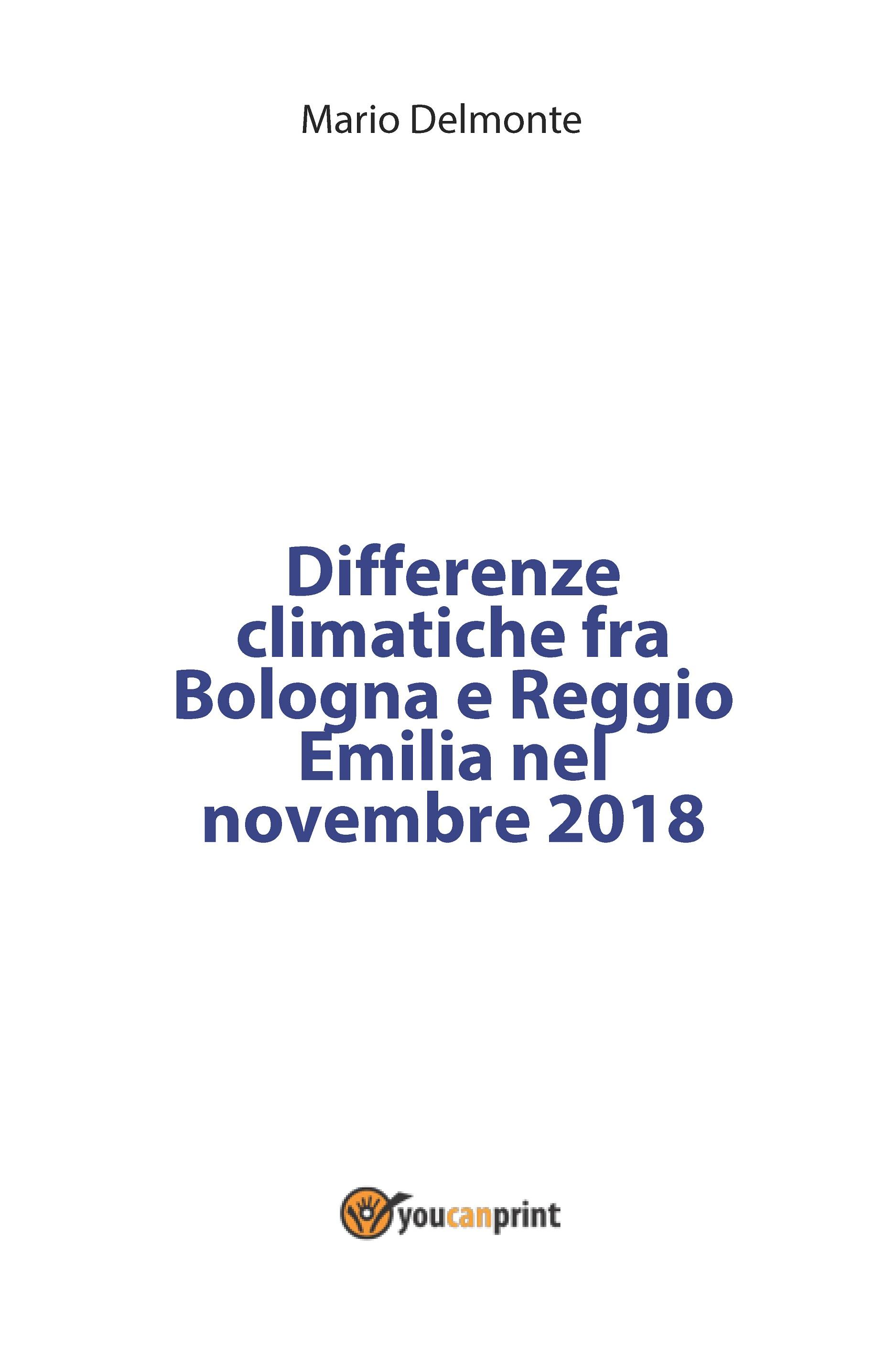 Differenze climatiche fra Bologna e Reggio Emilia nel novembre 2018