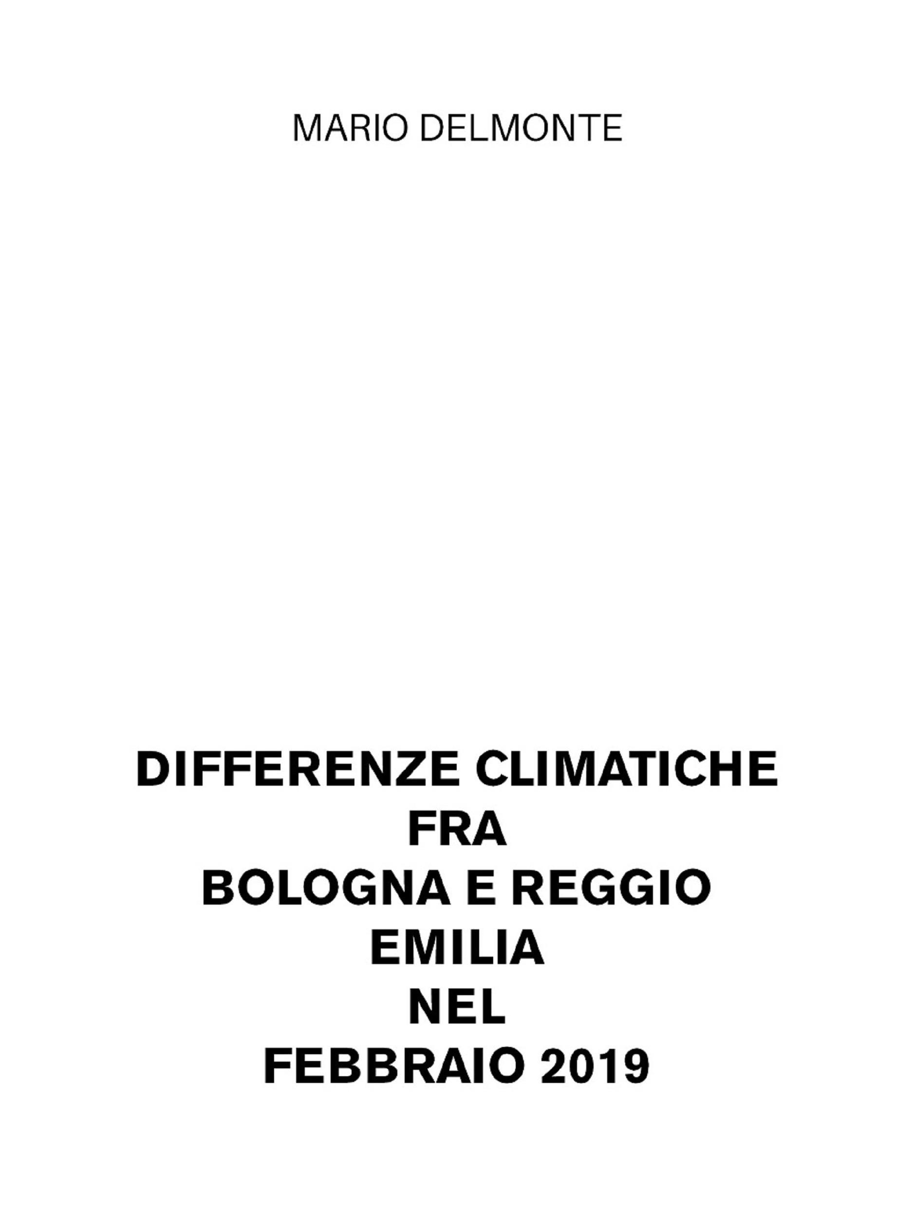 Differenze climatiche fra Bologna e Reggio Emilia nel febbraio 2019
