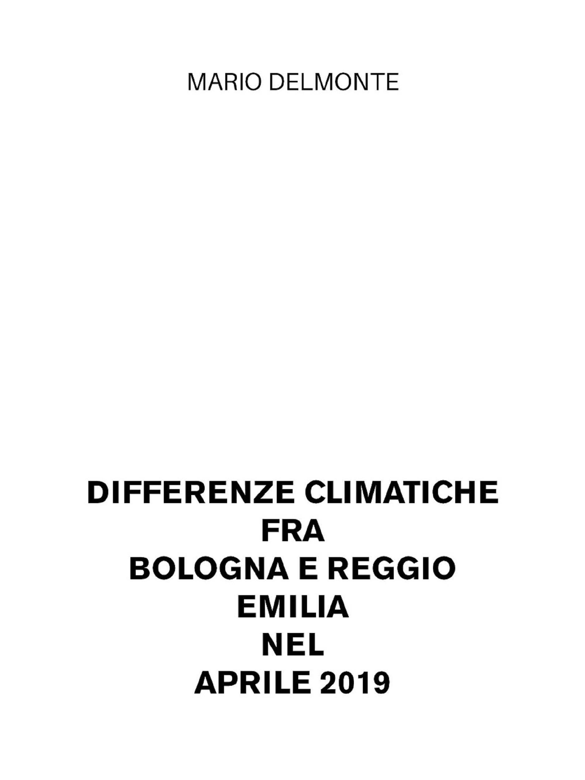 Differenze climatiche fra Bologna e Reggio Emilia nel aprile 2019