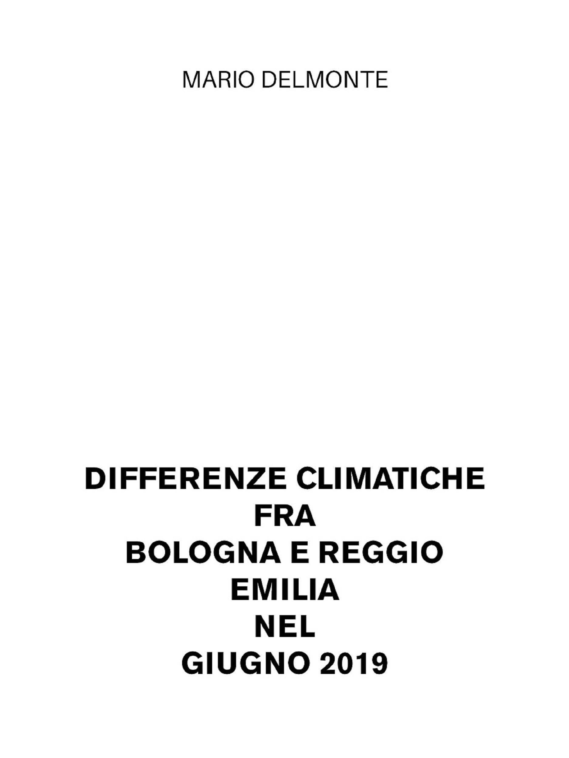 Differenze climatiche fra Bologna e Reggio Emilia nel giugno 2019