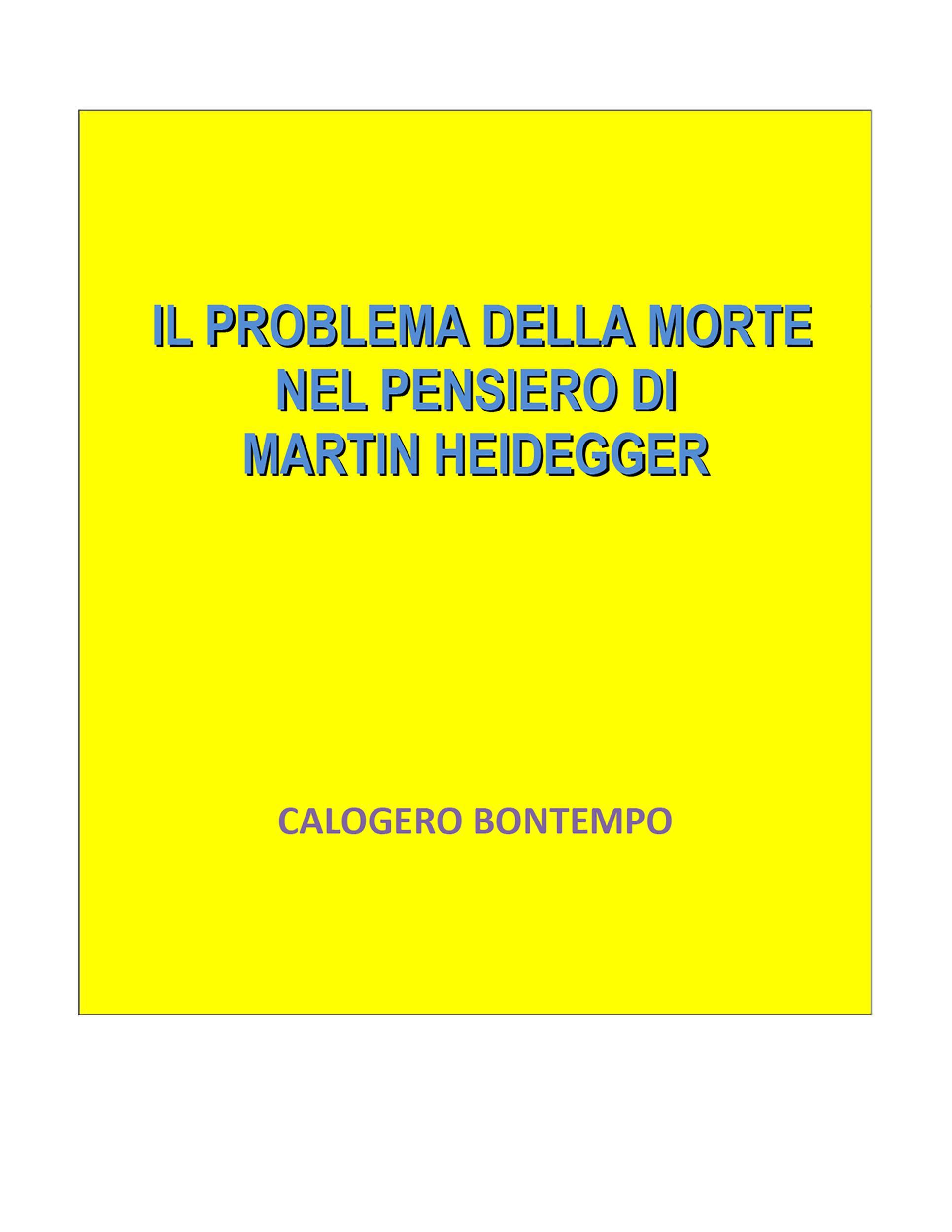 Il problema della morte nel pensiero di Martin Heidegger