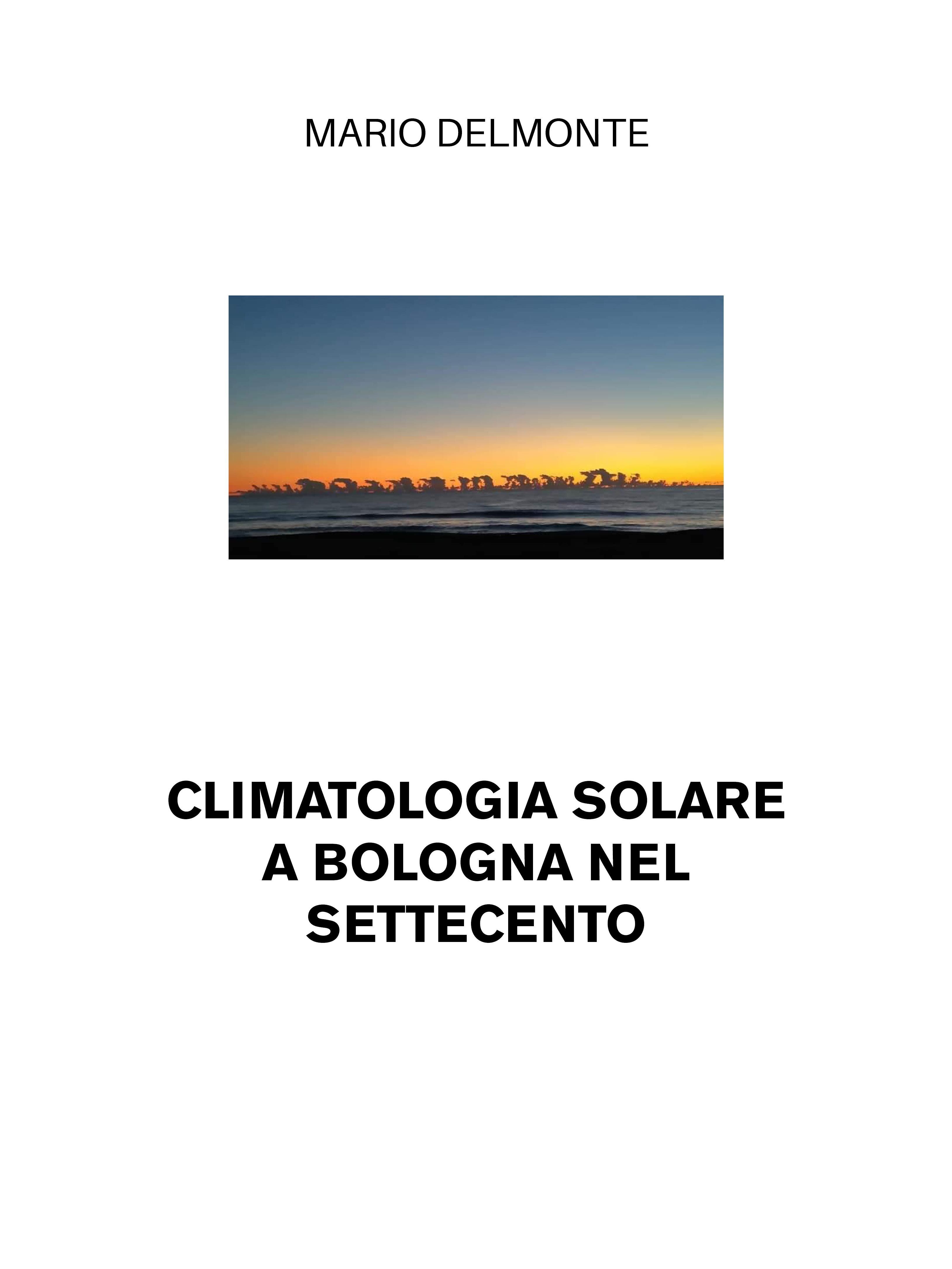 Climatologia solare a Bologna nel Settecento