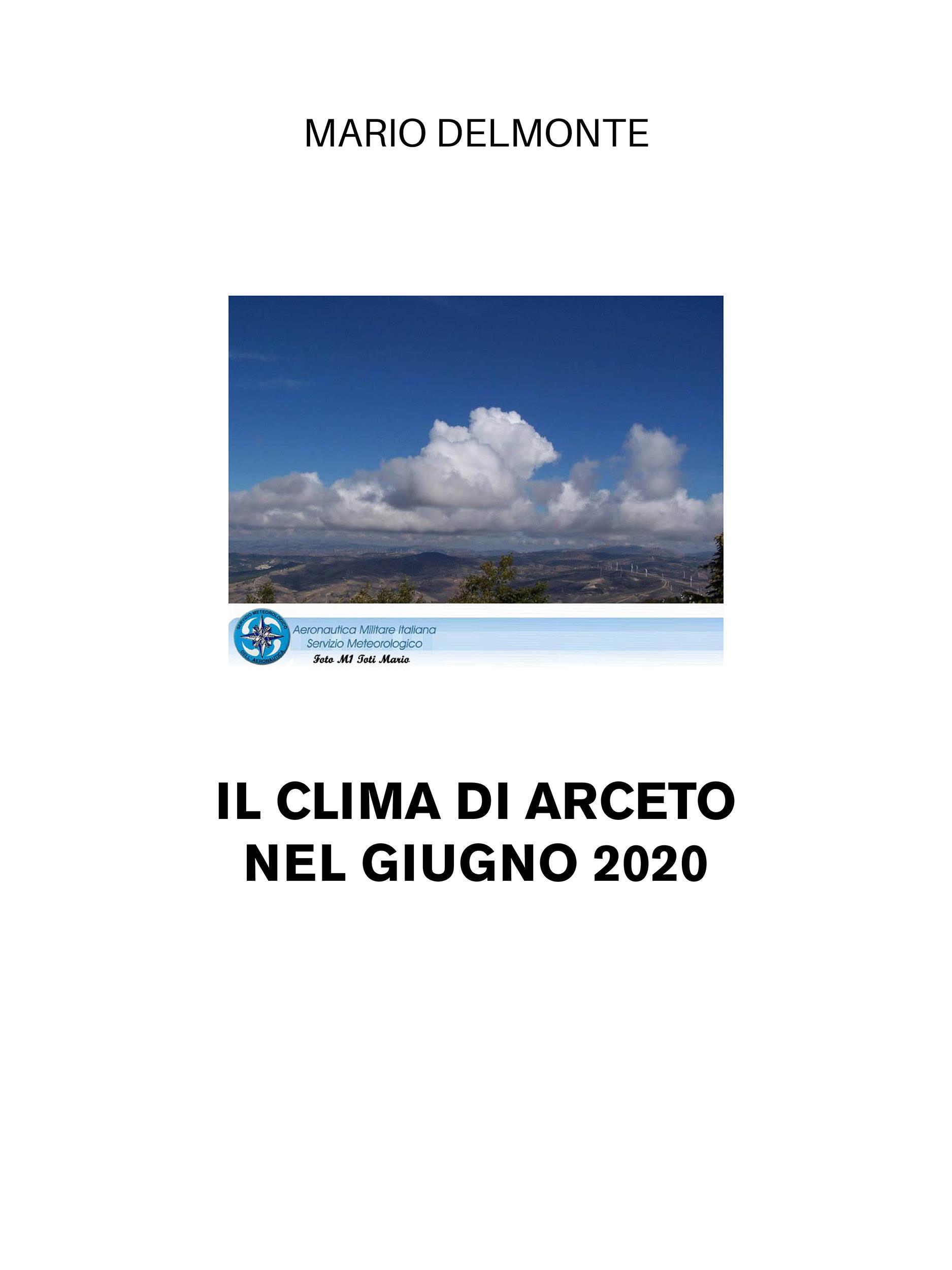 Il clima di Arceto nel giugno 2020