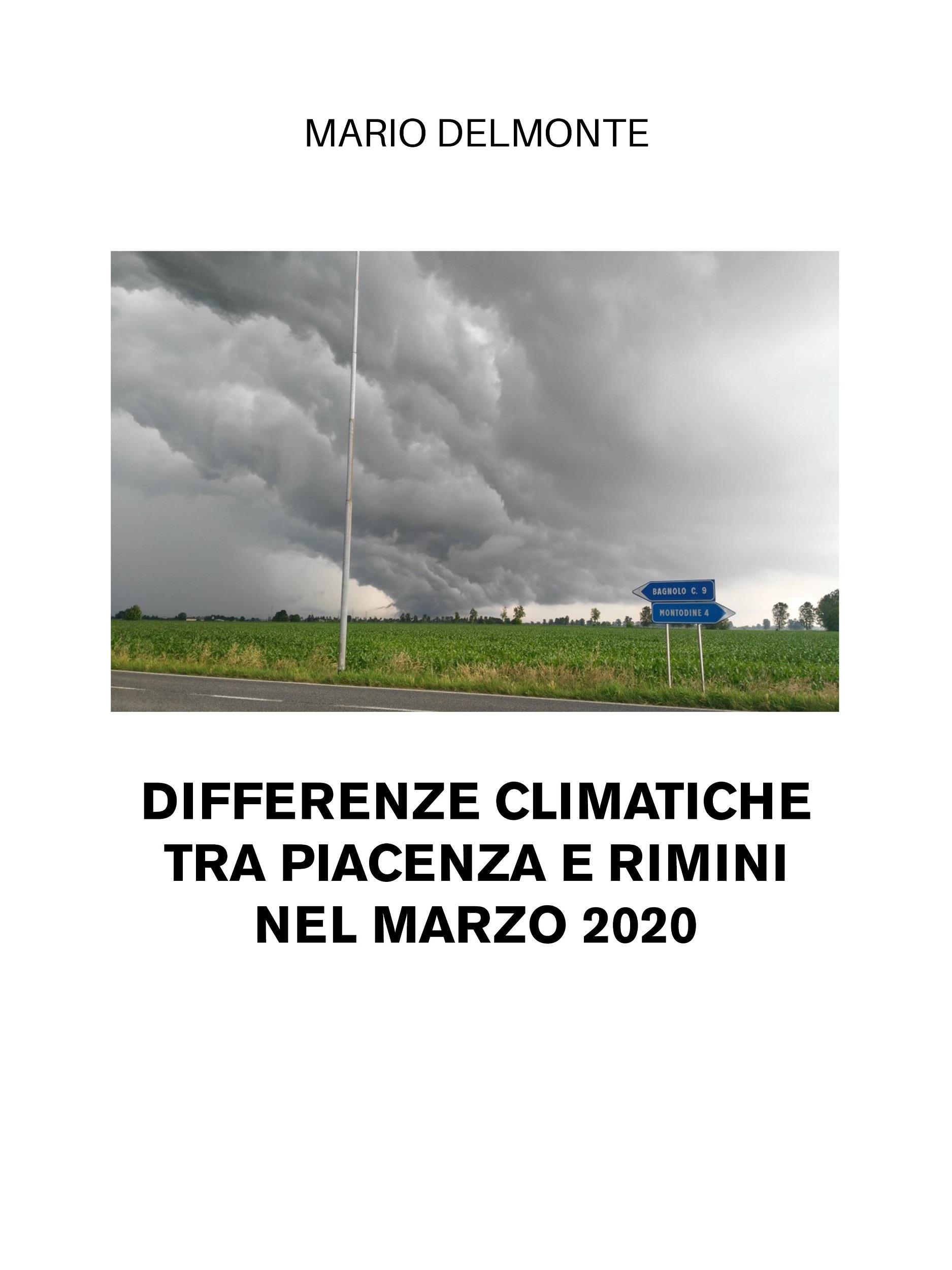Differenze climatiche tra Piacenza e Rimini nel marzo 2020