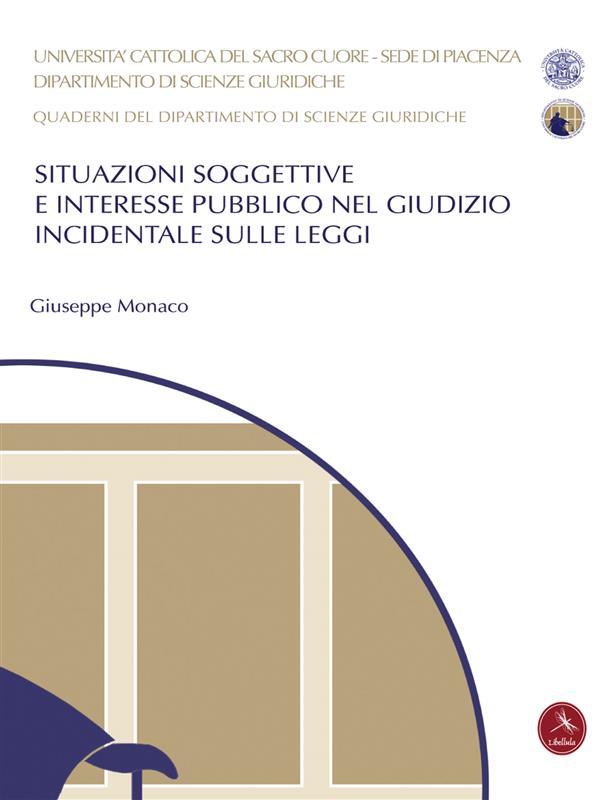 Situazioni Soggettive E Interesse Pubblico Nel Giudizio Incidentale Sulle Leggi