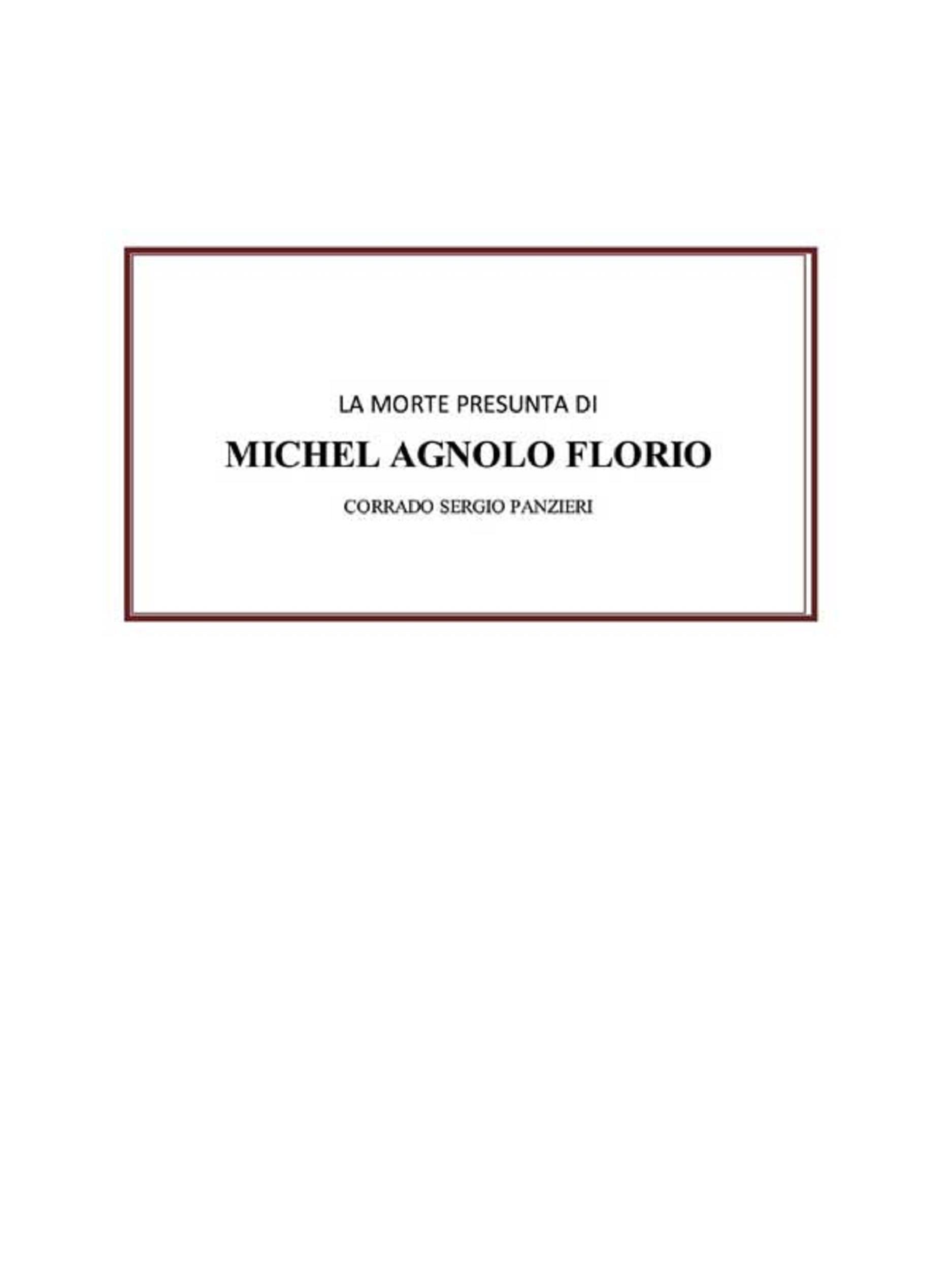 La morte presunta di Michel Agnolo Florio