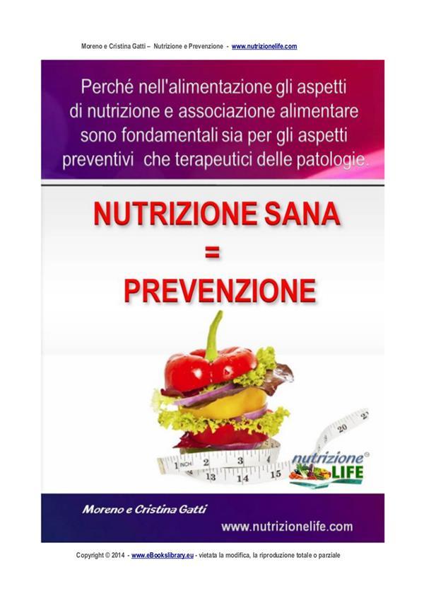 Nutrizione sana = Prevenzione
