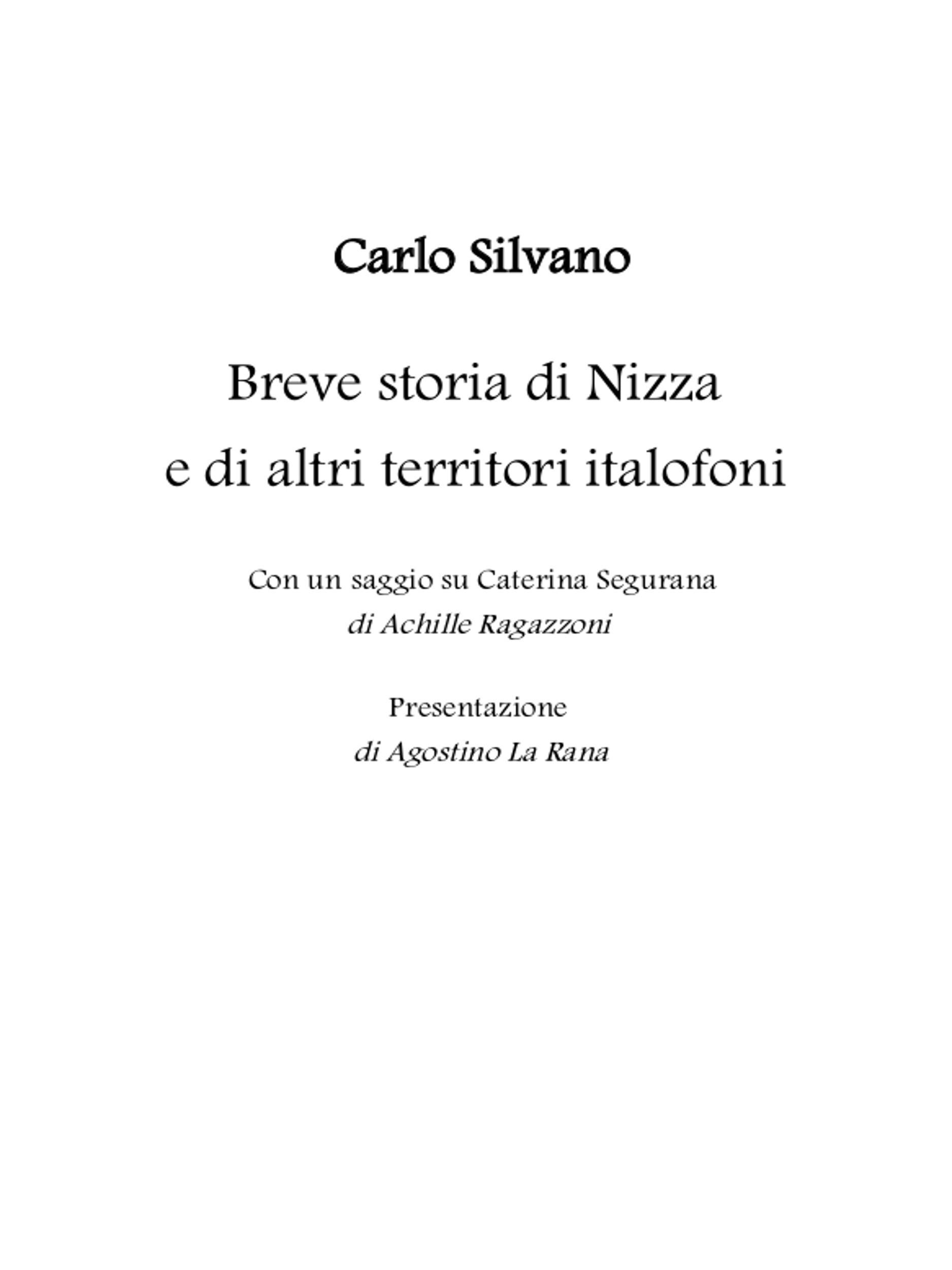 Breve storia di Nizza e di altri territori italofoni