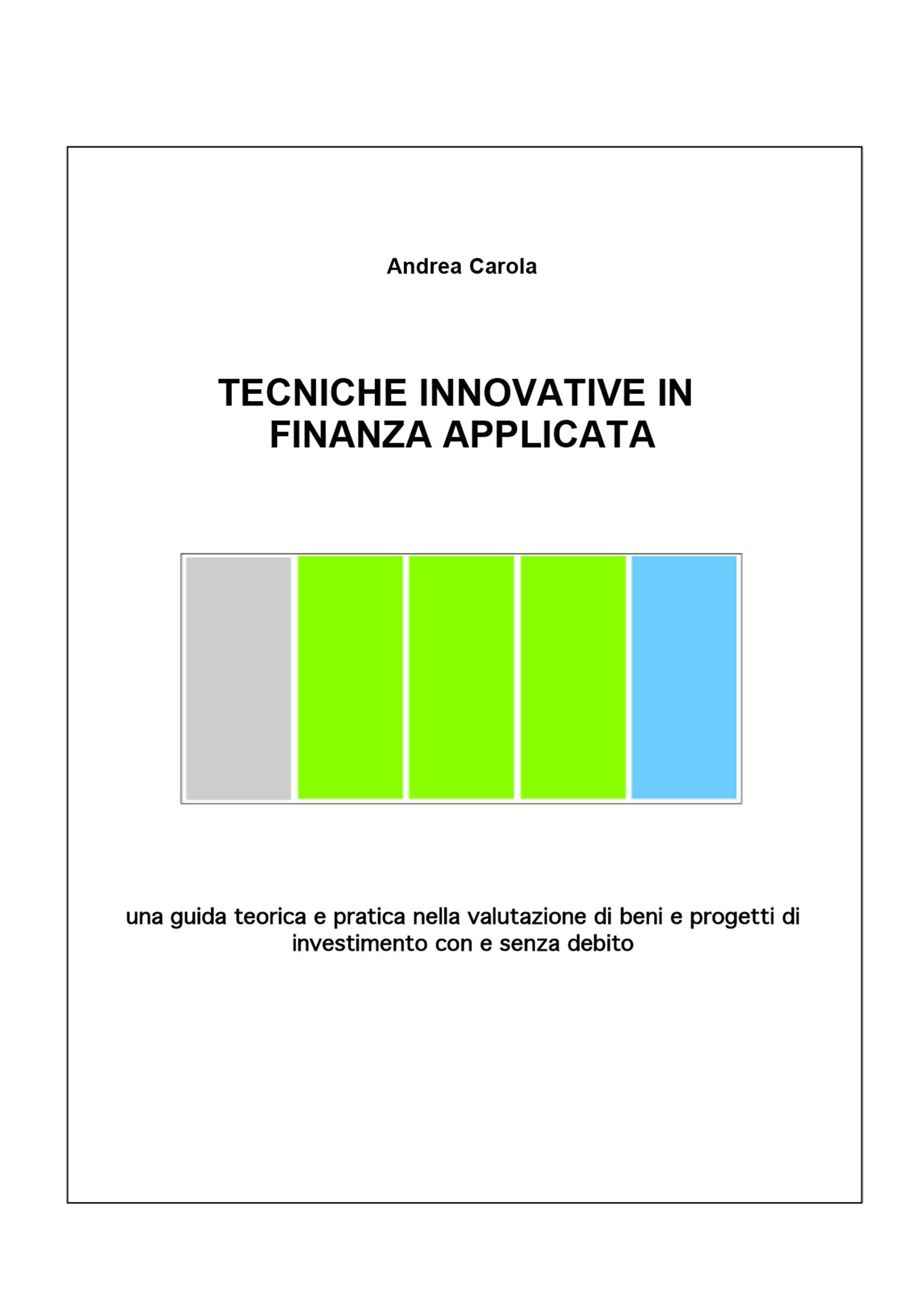 Tecniche Innovative in Finanza Applicata
