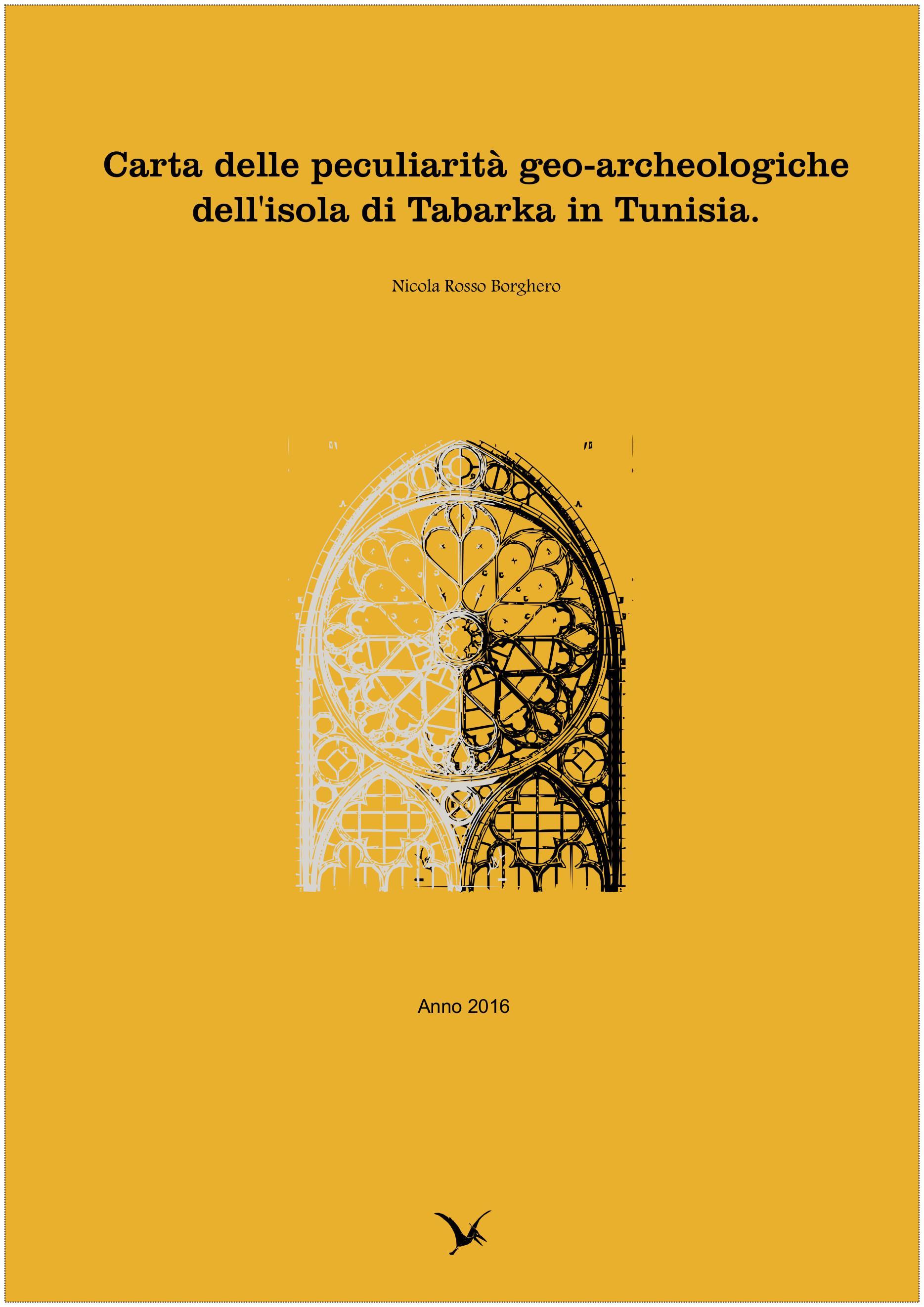 Carta delle peculiarità geo-archeologiche dell'isola di Tabarka in Tunisia