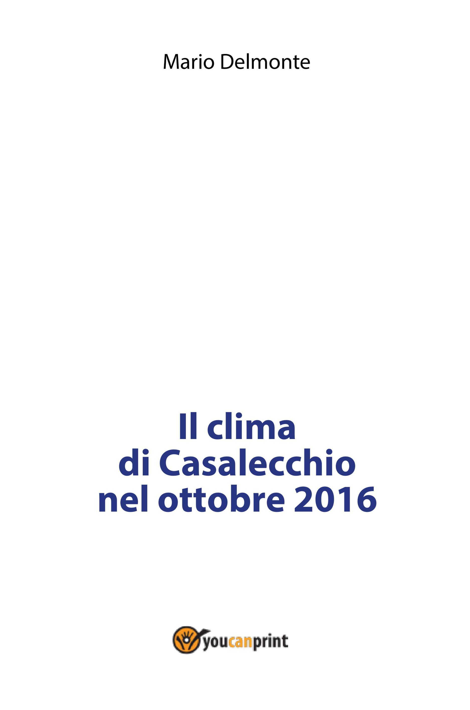 Il clima di Casalecchio nell'ottobre 2016