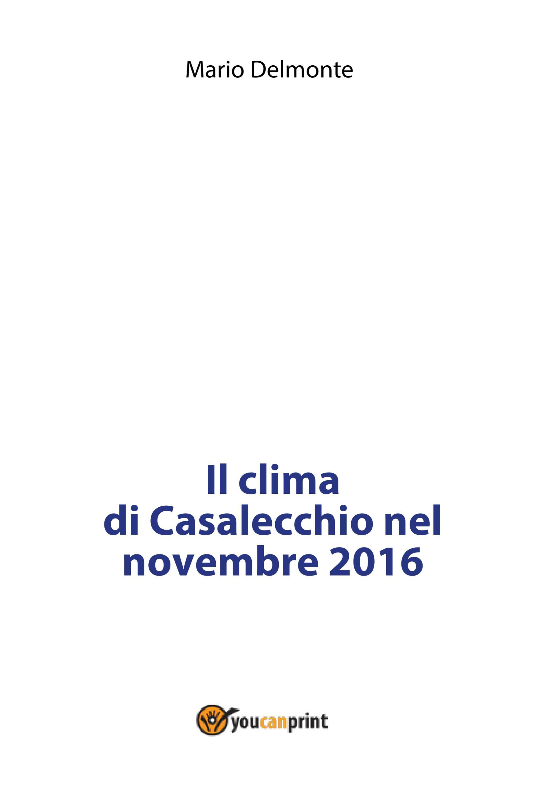 Il clima di Casalecchio nel novembre 2016