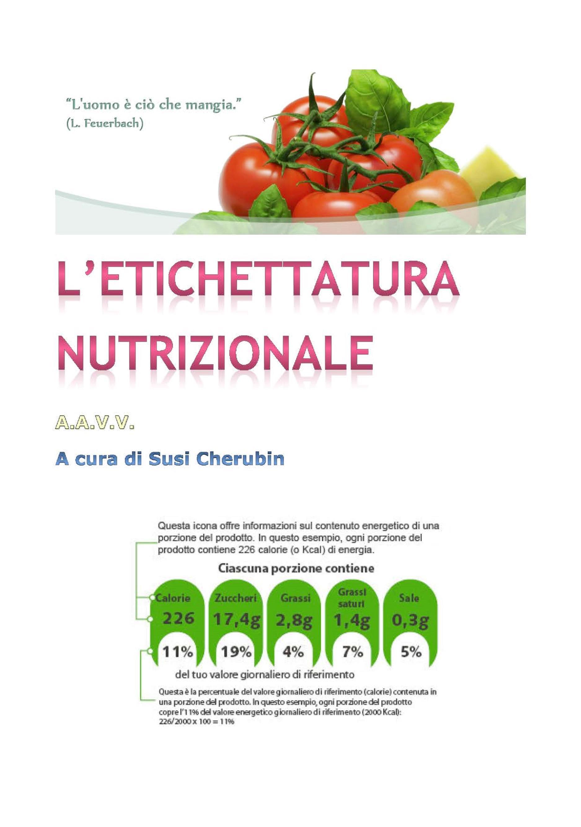 L'etichettatura nutrizionale