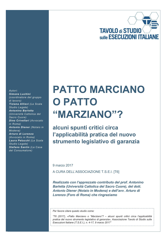 """Patto Marciano o patto """"marziano""""? Critici circa l'applicabilità pratica del nuovo strumento legislativo di garanzia"""