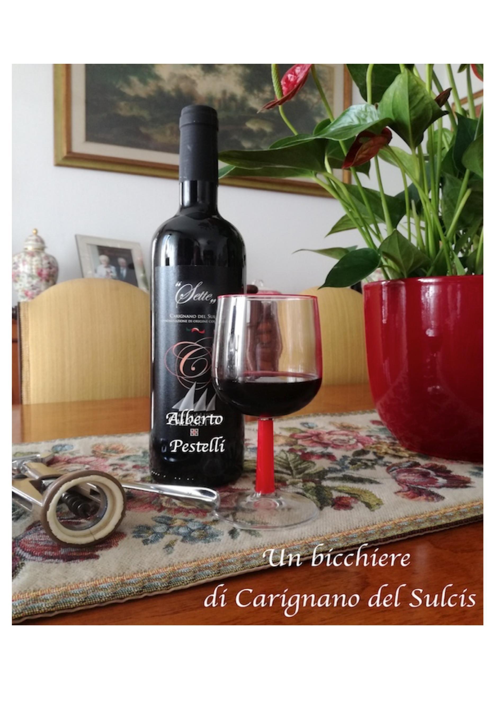Un bicchiere di Carignano del Sulcis