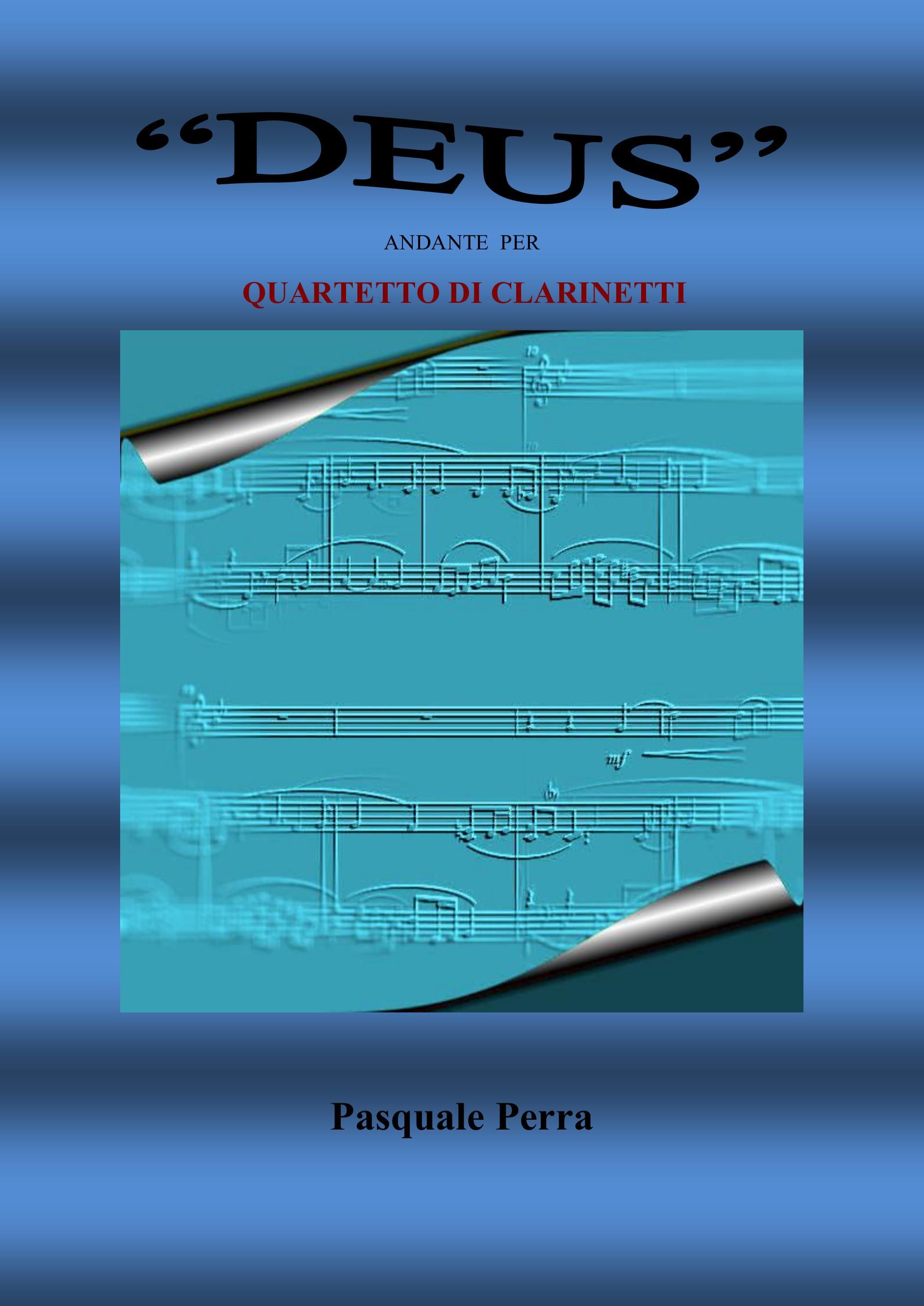 Deus andante per quartetto di clarinetti (partitura e parti)