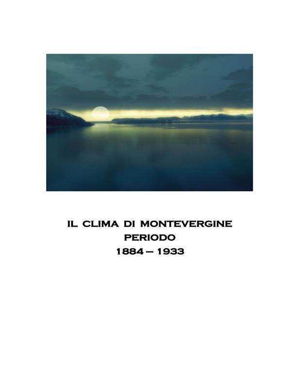 IL CLIMA DI MONTEVERGINE
