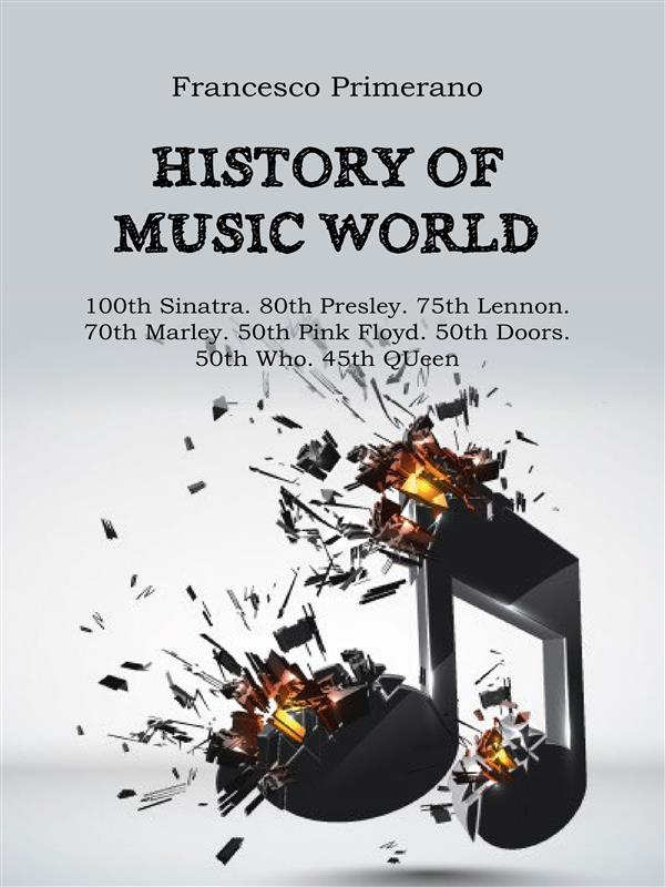 History of music world: 100th Sinatra. 80th Presley. 75th Lennon. 70th Marley. 50th Pink Floyd. 50th Doors. 50th Who. 45th Queen
