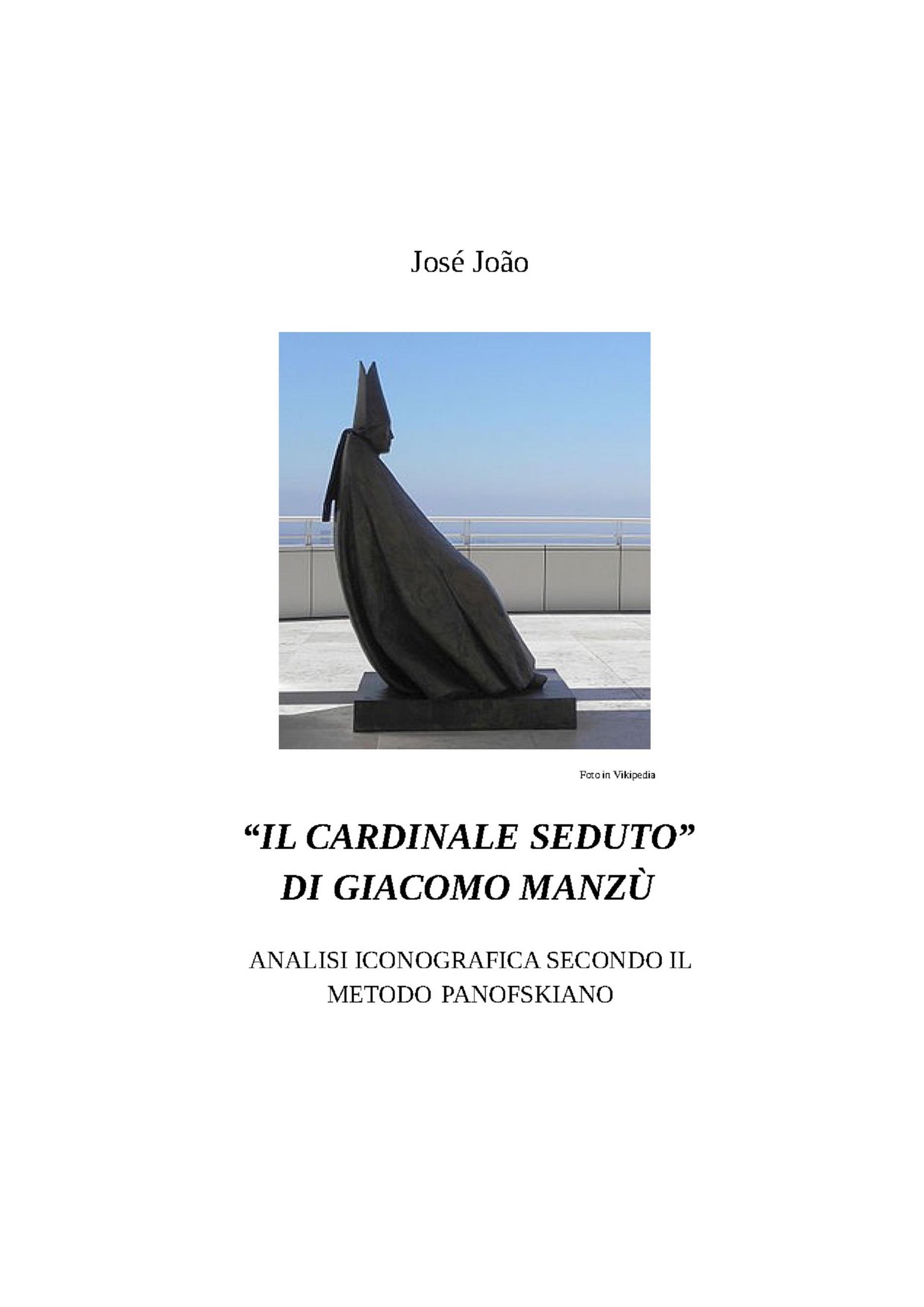 """""""Il cardinale seduto"""" di Giacomo Manzù - Analisi iconografica secondo il metodo Panofskiano"""