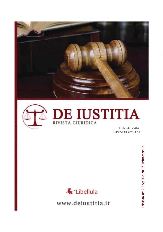 De Iustitia - Rivista di informazione giuridica - N. 2 Aprile 2017