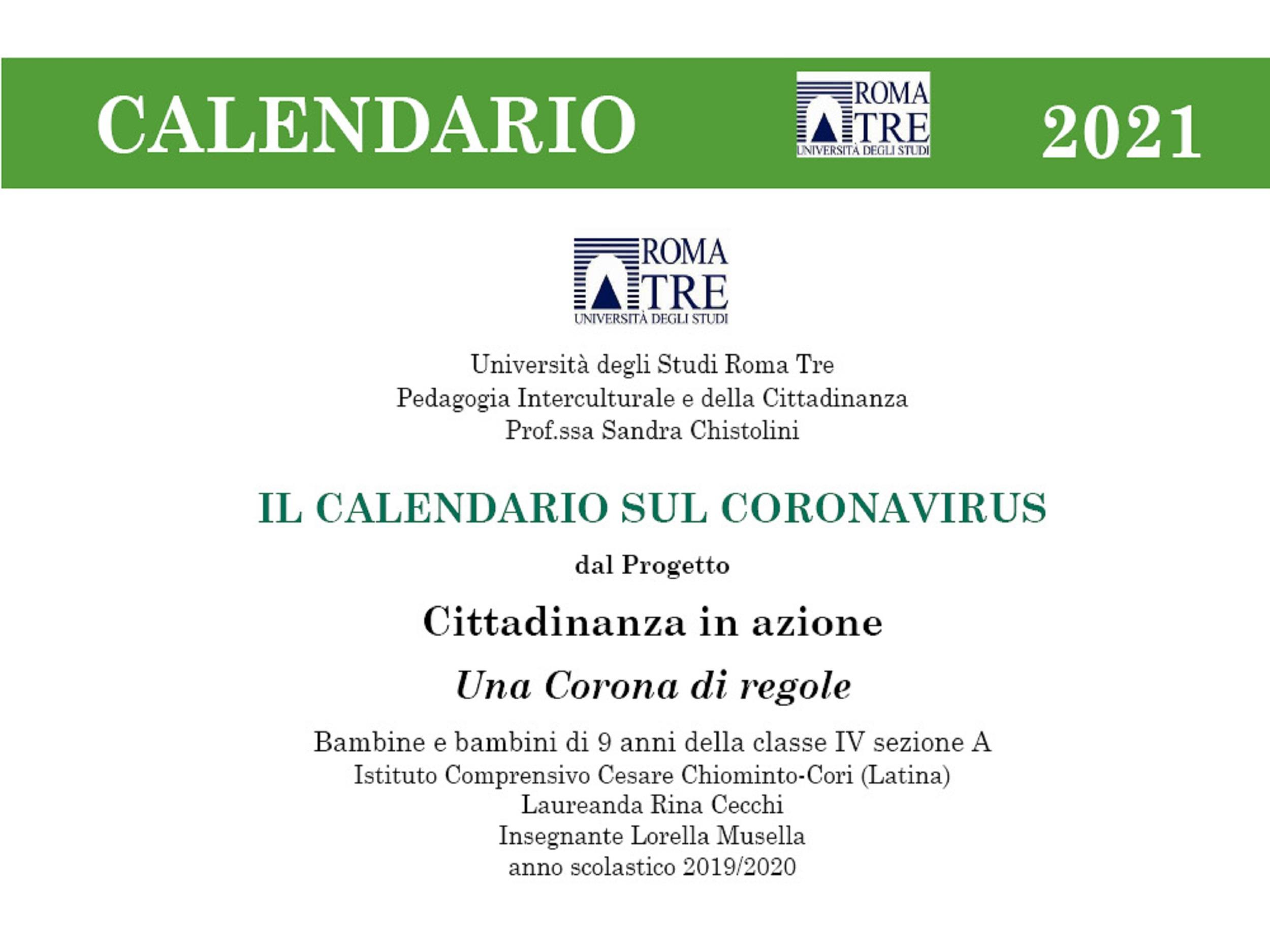 Il Calendario sul Coronavirus 2021