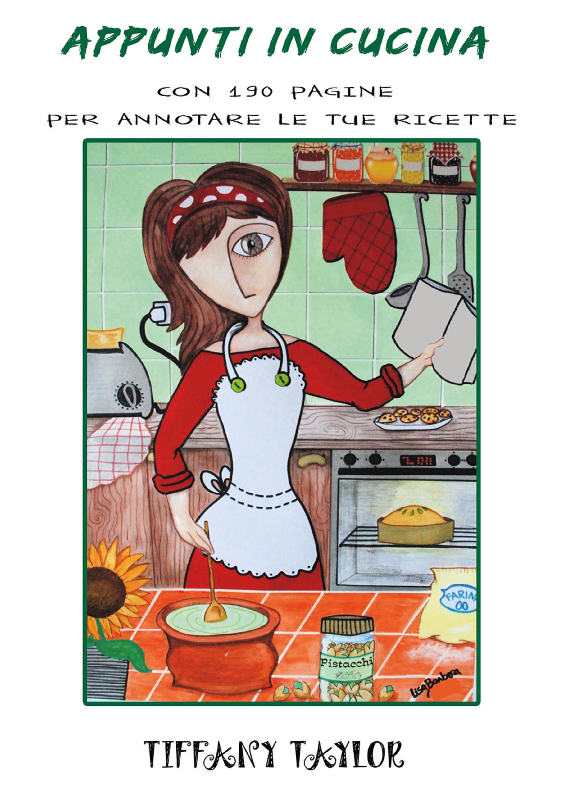 Appunti in cucina con 190 pagine per annotare le tue ricette