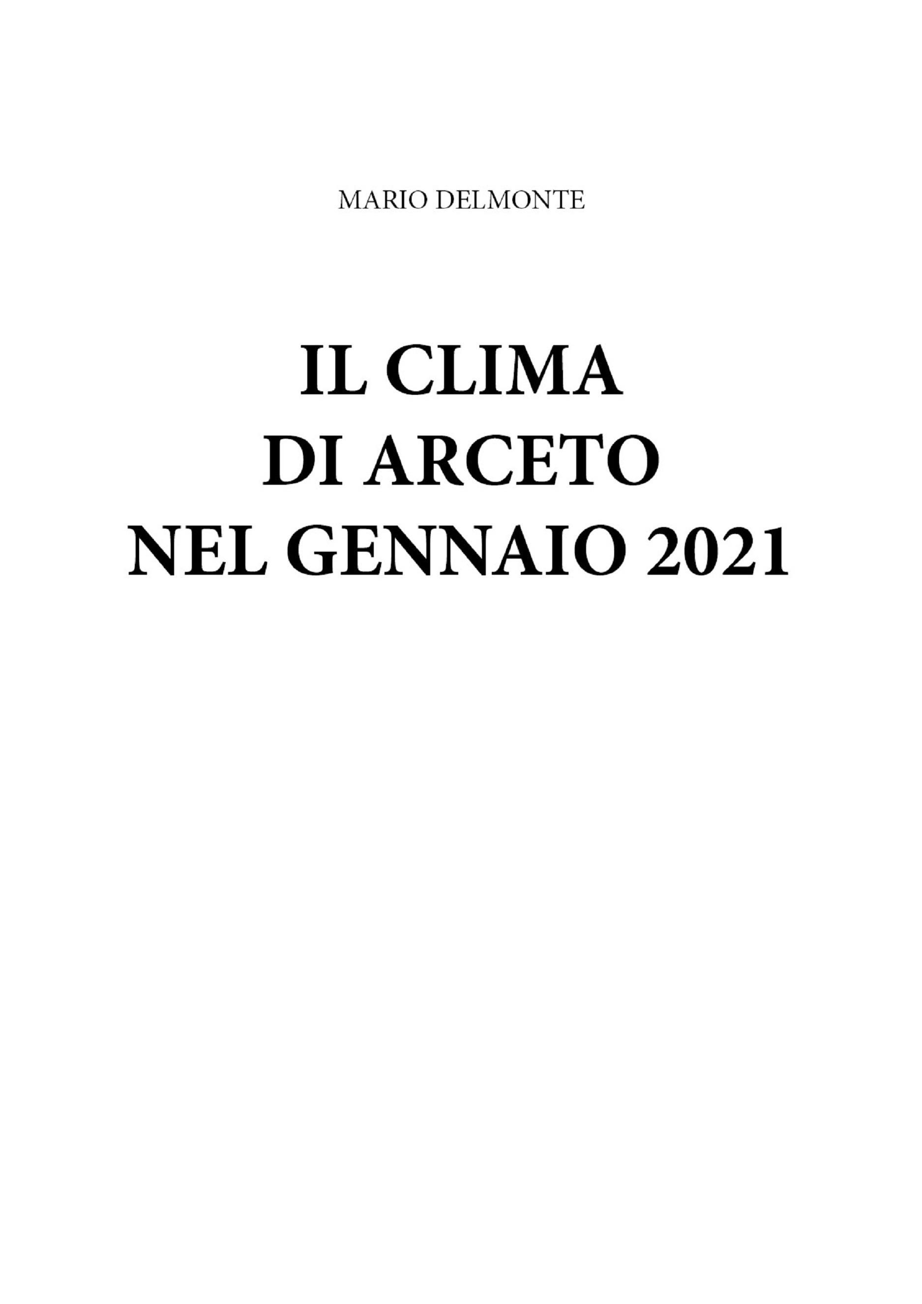 IL clima di Arceto nel gennaio 2021
