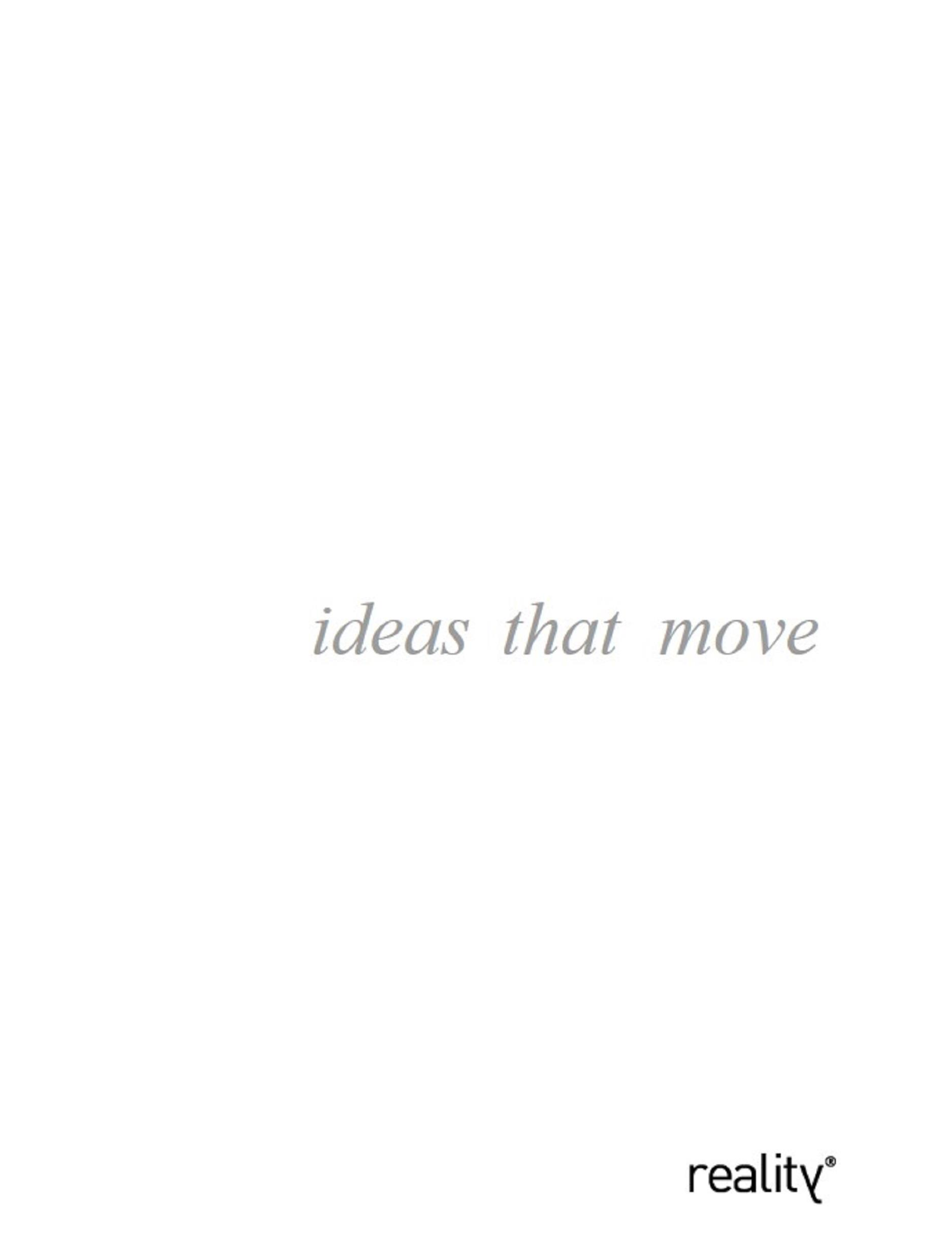 Ideas that move