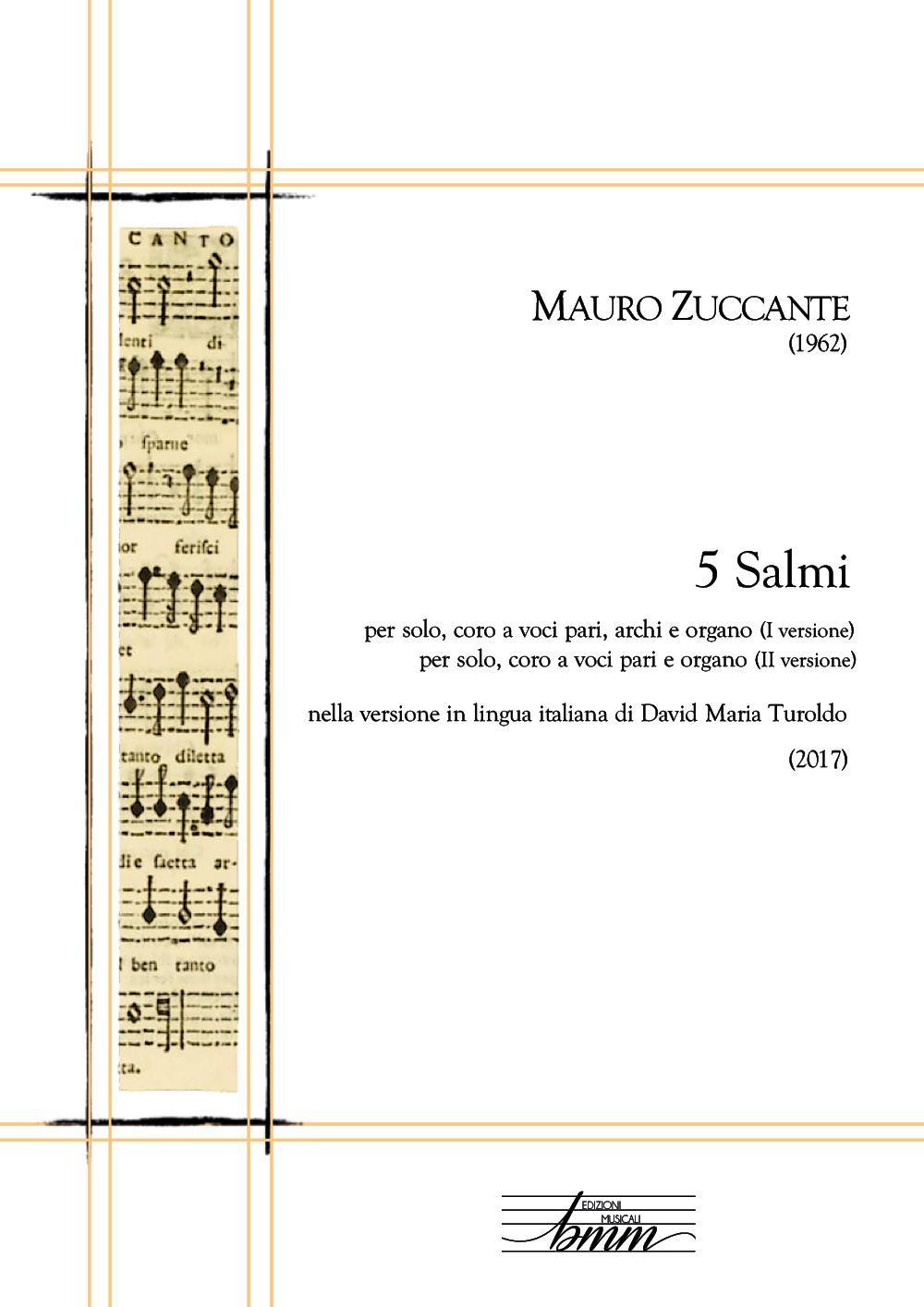 MAURO ZUCCANTE 5 Salmi (2017)