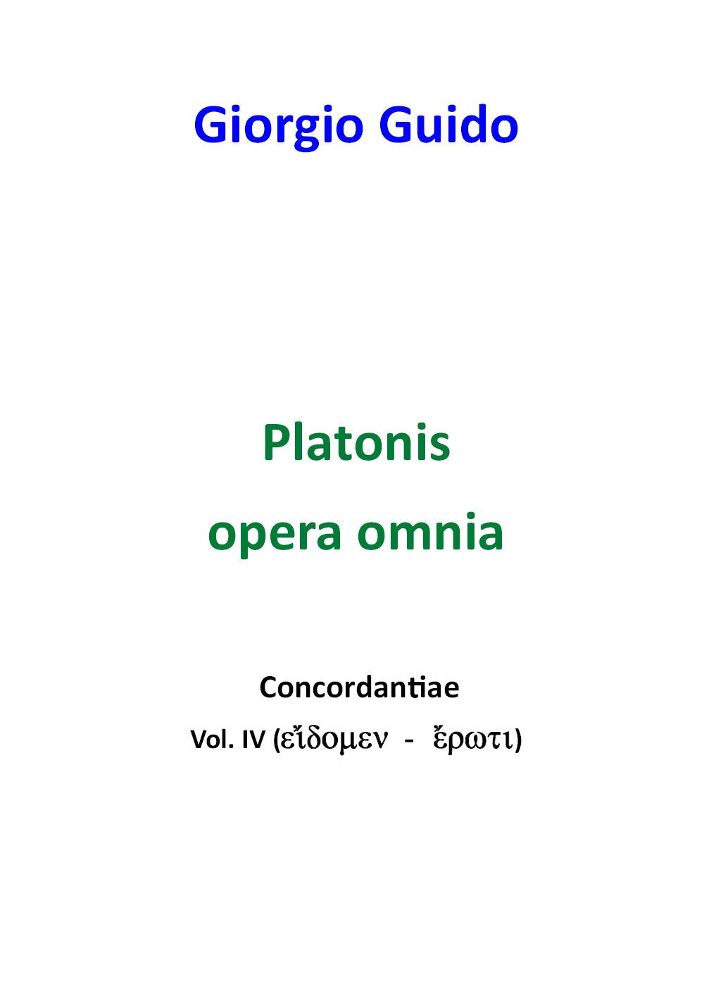 Platone - Volume IV