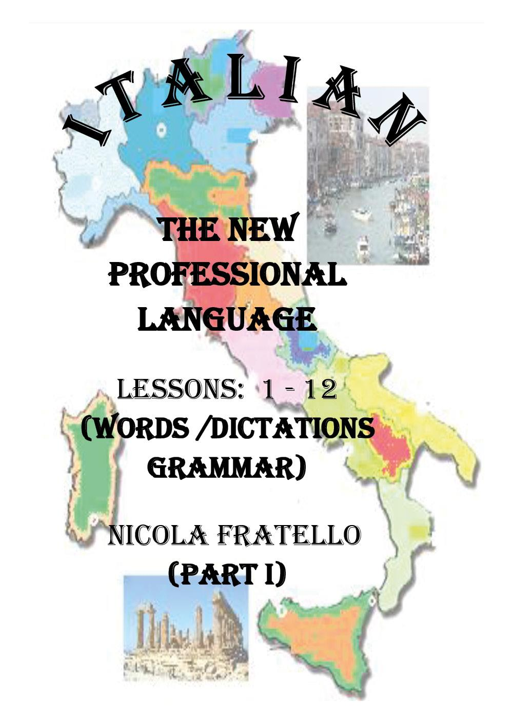 Italian - The New Professional Language - Parte I