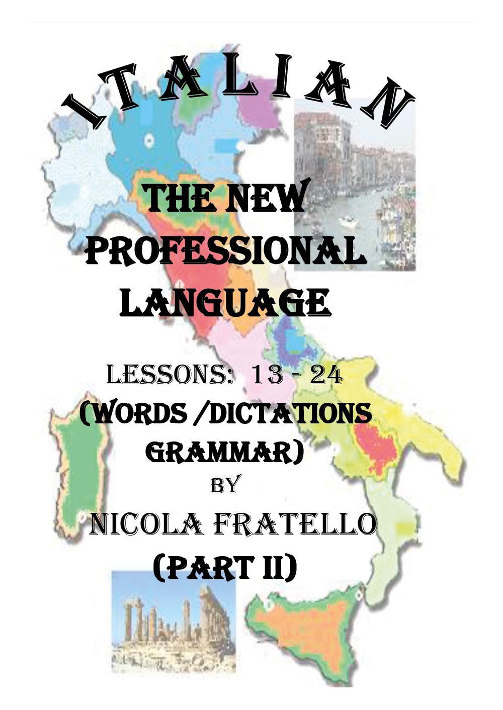 Italian - The New Professional Language - Parte II
