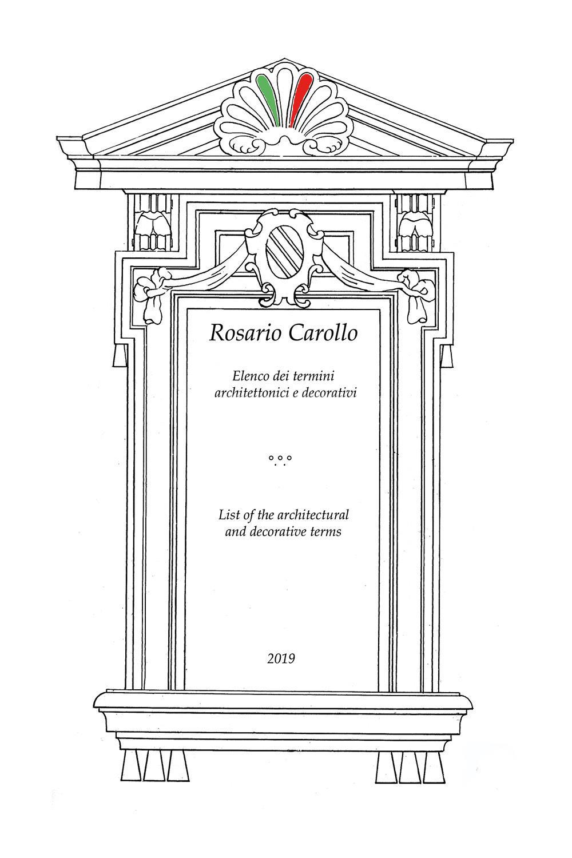 Elenco dei termini architettonici e decorativi - List of the architectural and decorative terms