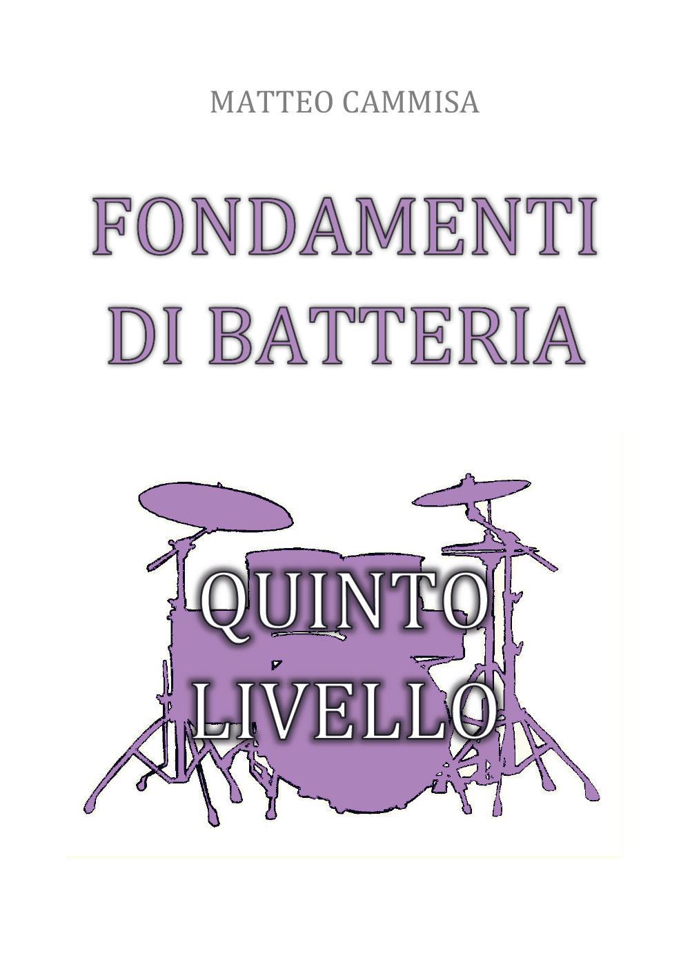 Fondamenti di Batteria Quinto Livello