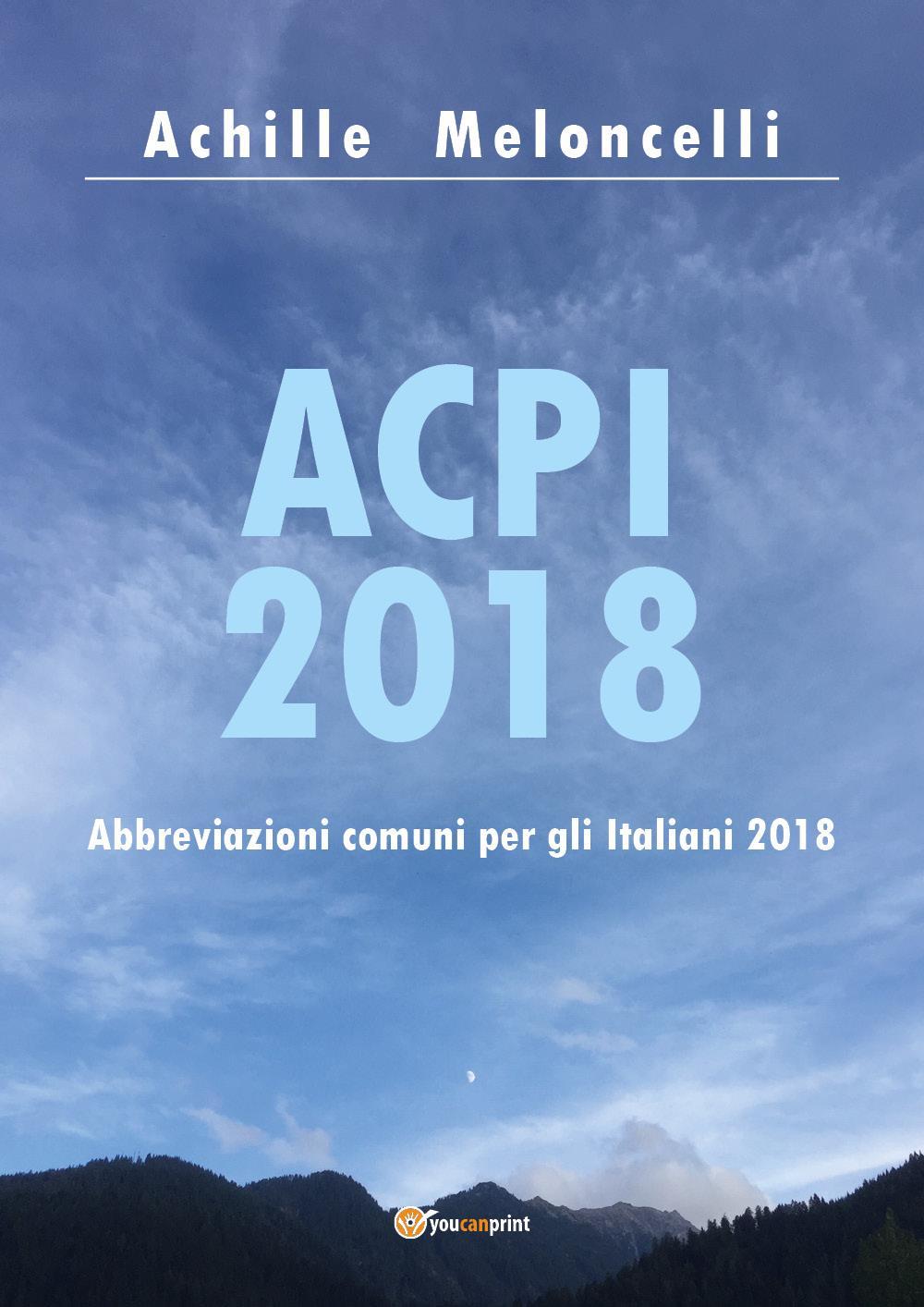 ACPI 2018 Abbreviazioni comuni per gli Italiani 2018
